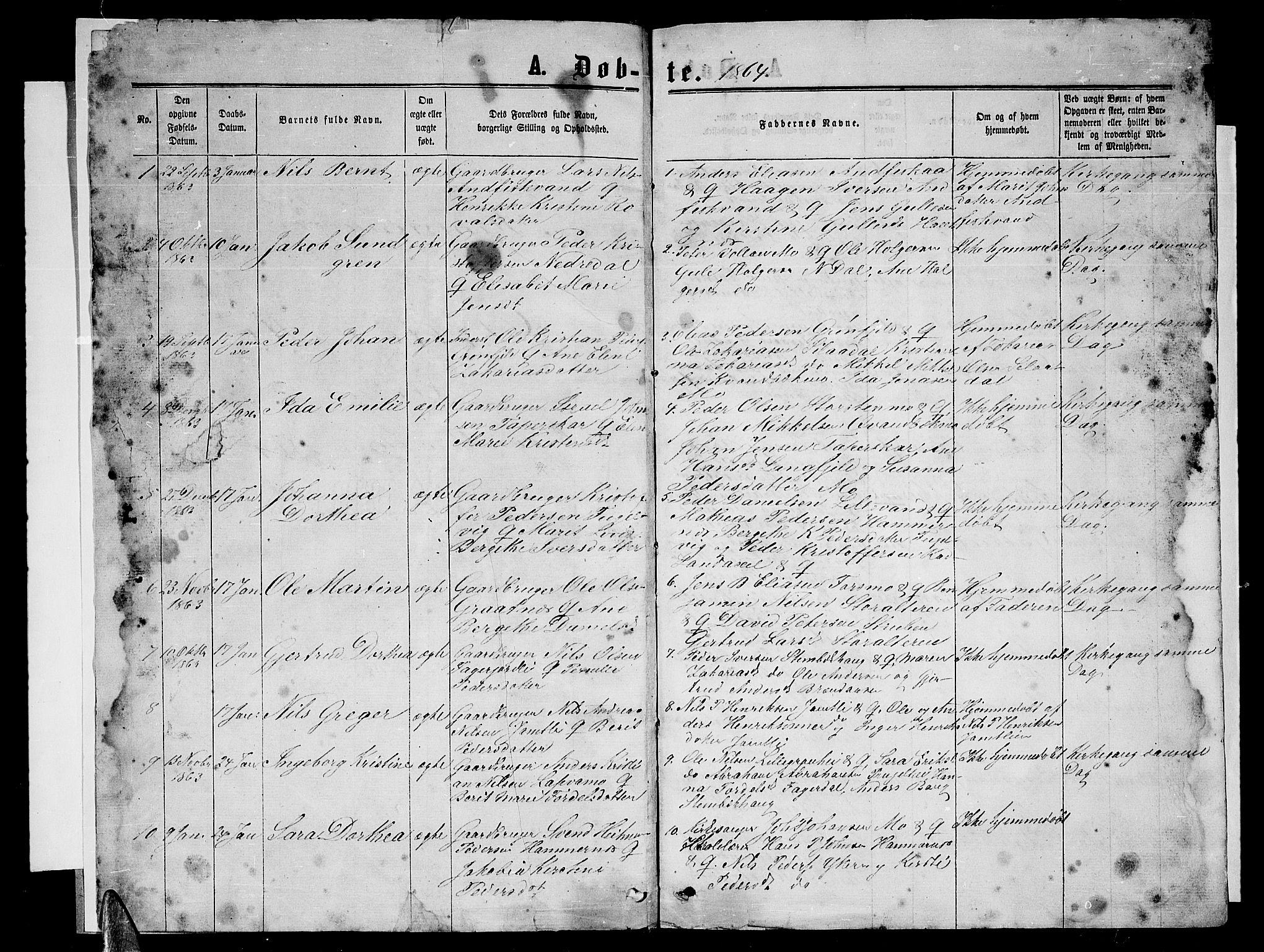 SAT, Ministerialprotokoller, klokkerbøker og fødselsregistre - Nordland, 827/L0415: Klokkerbok nr. 827C04, 1864-1886, s. 1