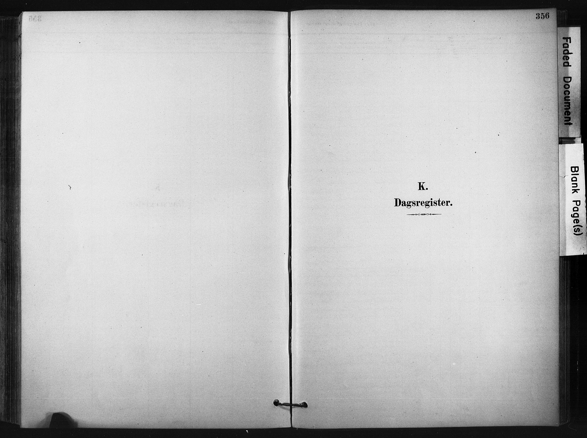 SAKO, Bø kirkebøker, F/Fa/L0010: Ministerialbok nr. 10, 1880-1892, s. 356