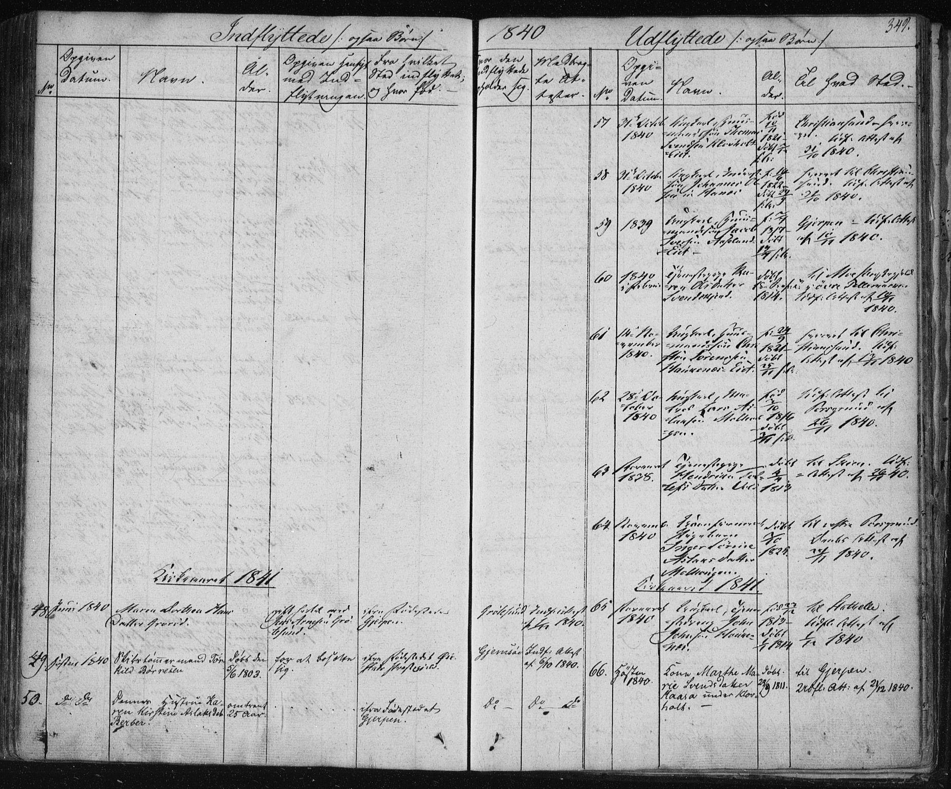SAKO, Solum kirkebøker, F/Fa/L0005: Ministerialbok nr. I 5, 1833-1843, s. 349
