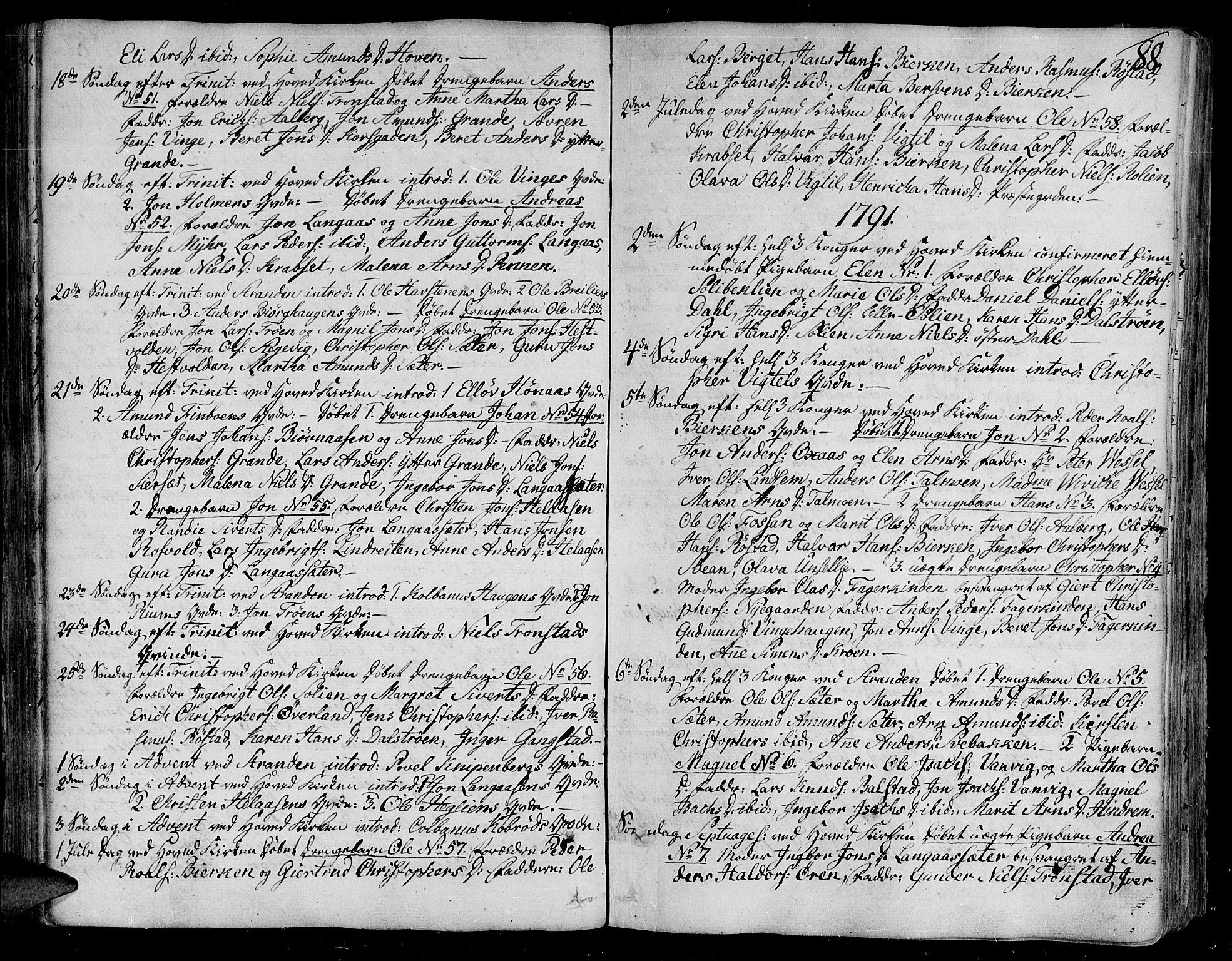 SAT, Ministerialprotokoller, klokkerbøker og fødselsregistre - Nord-Trøndelag, 701/L0004: Ministerialbok nr. 701A04, 1783-1816, s. 88