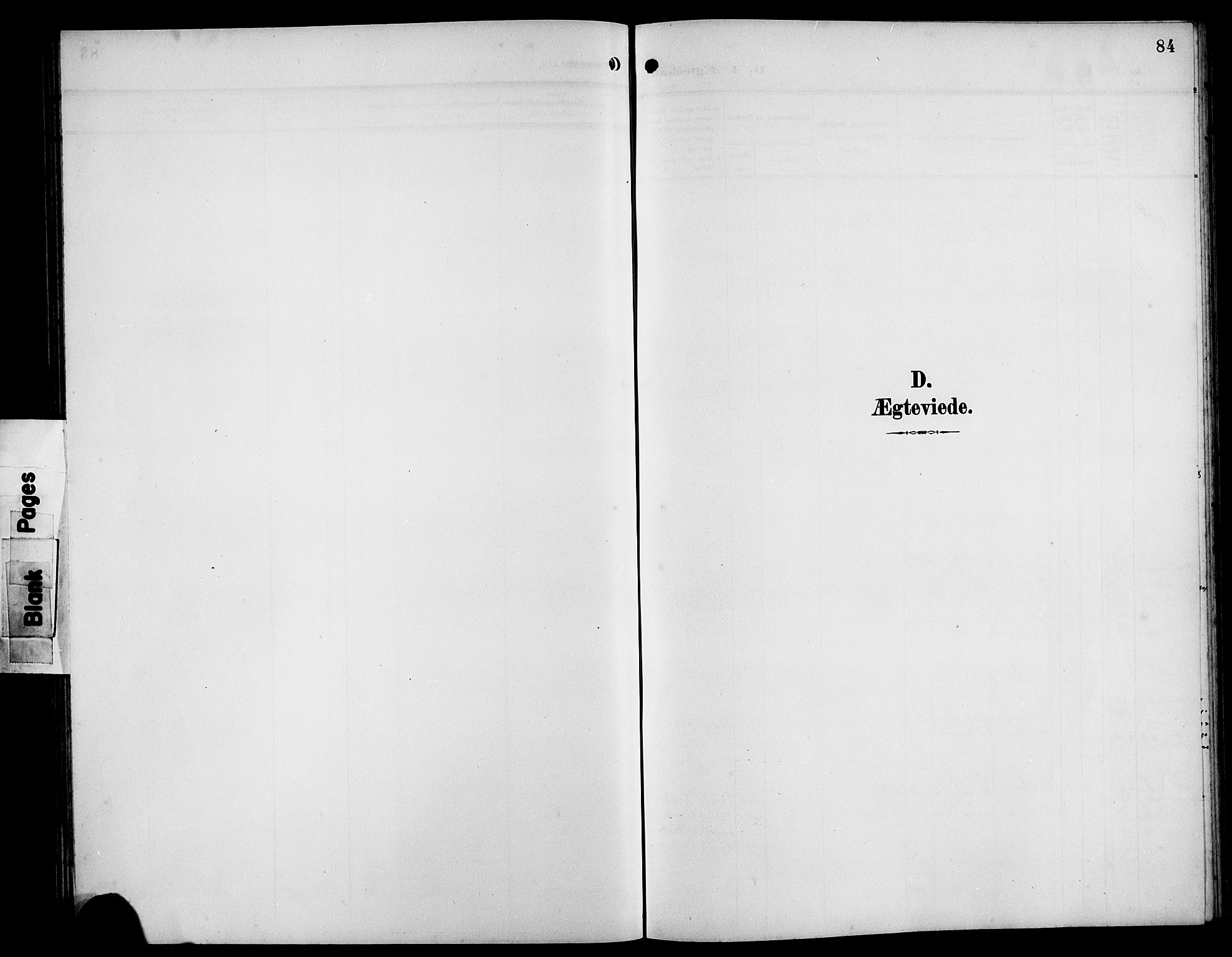 SAB, Bremanger Sokneprestembete, H/Hab: Klokkerbok nr. B 1, 1906-1925, s. 84