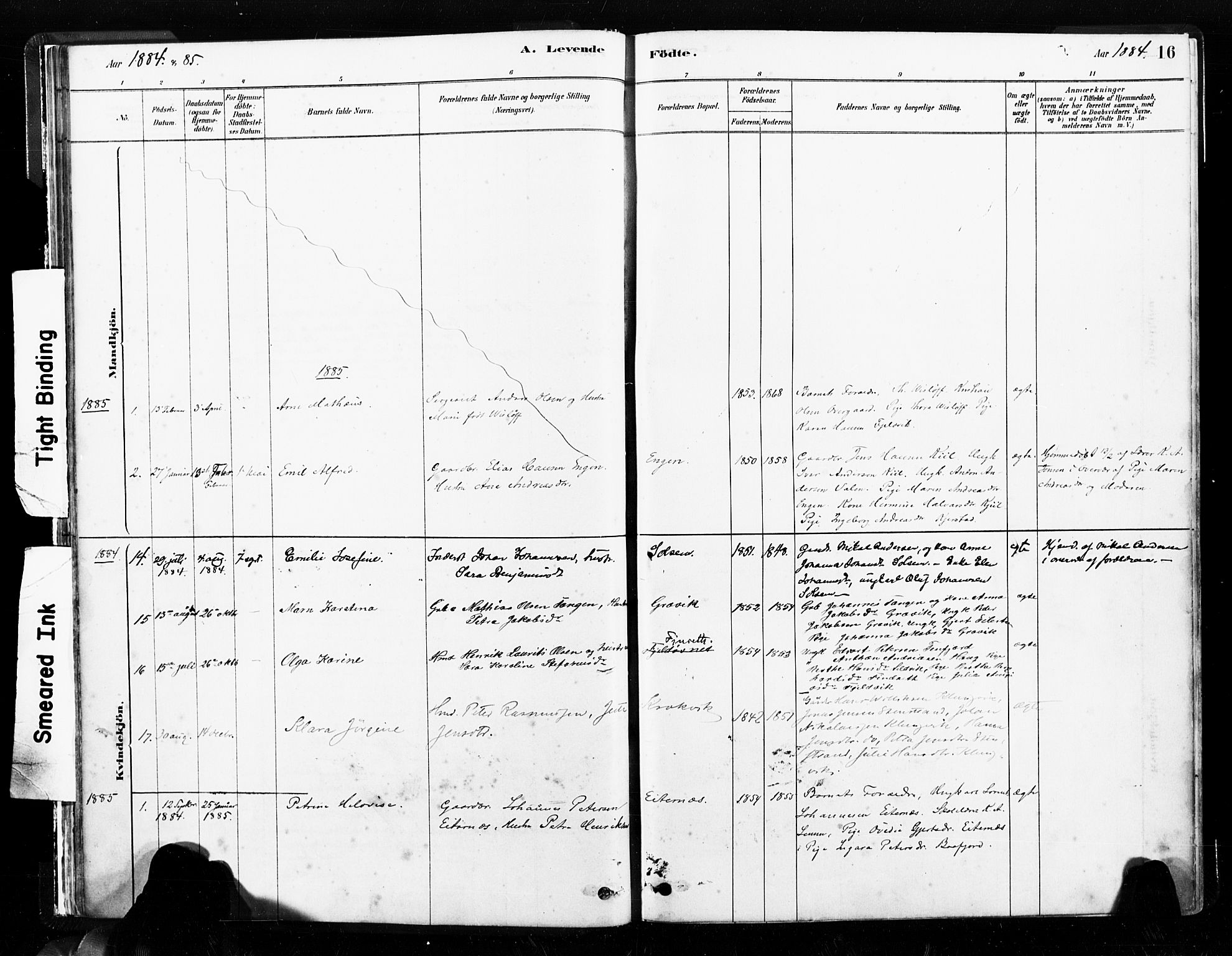 SAT, Ministerialprotokoller, klokkerbøker og fødselsregistre - Nord-Trøndelag, 789/L0705: Ministerialbok nr. 789A01, 1878-1910, s. 16