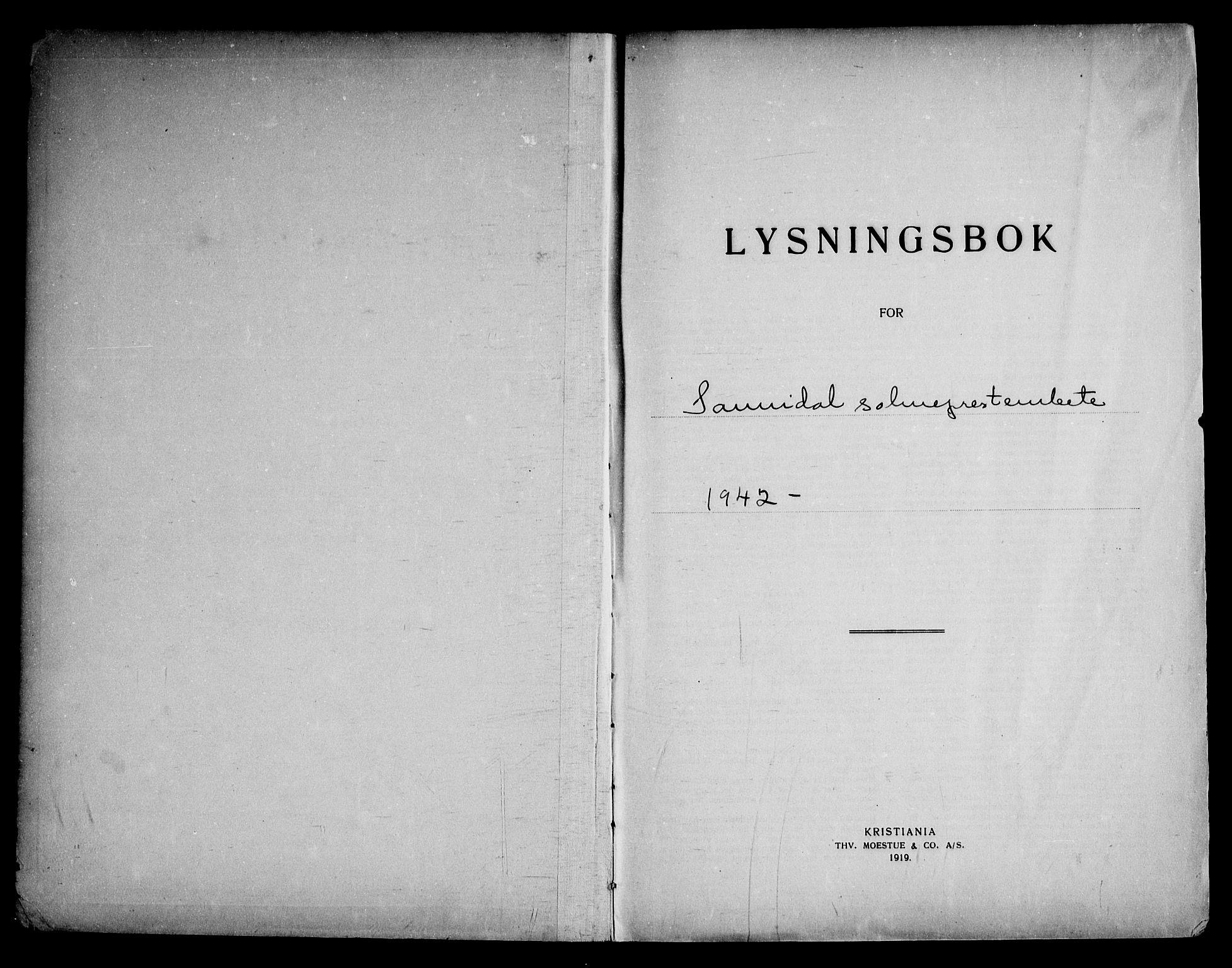 SAKO, Sannidal kirkebøker, H/Ha/L0003: Lysningsprotokoll nr. 3, 1942-1969