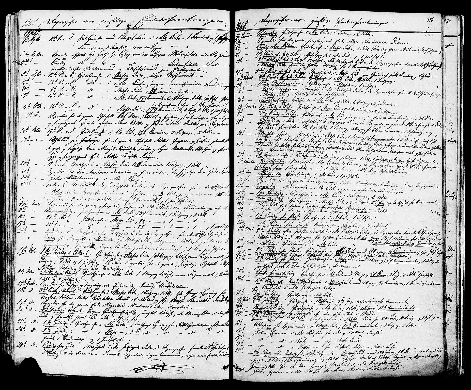 SAKO, Mo kirkebøker, F/Fa/L0006: Ministerialbok nr. I 6, 1865-1885, s. 376
