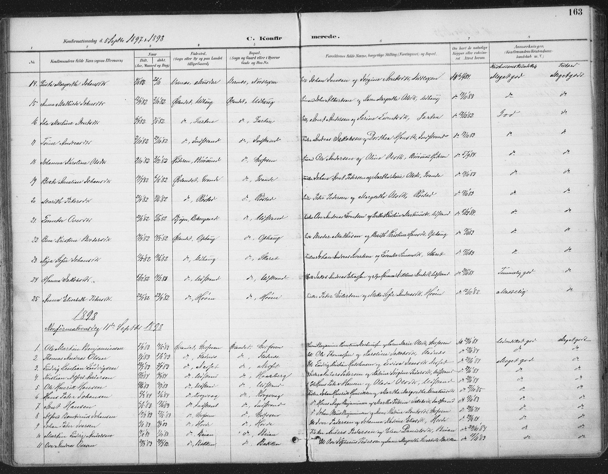 SAT, Ministerialprotokoller, klokkerbøker og fødselsregistre - Sør-Trøndelag, 659/L0743: Ministerialbok nr. 659A13, 1893-1910, s. 163