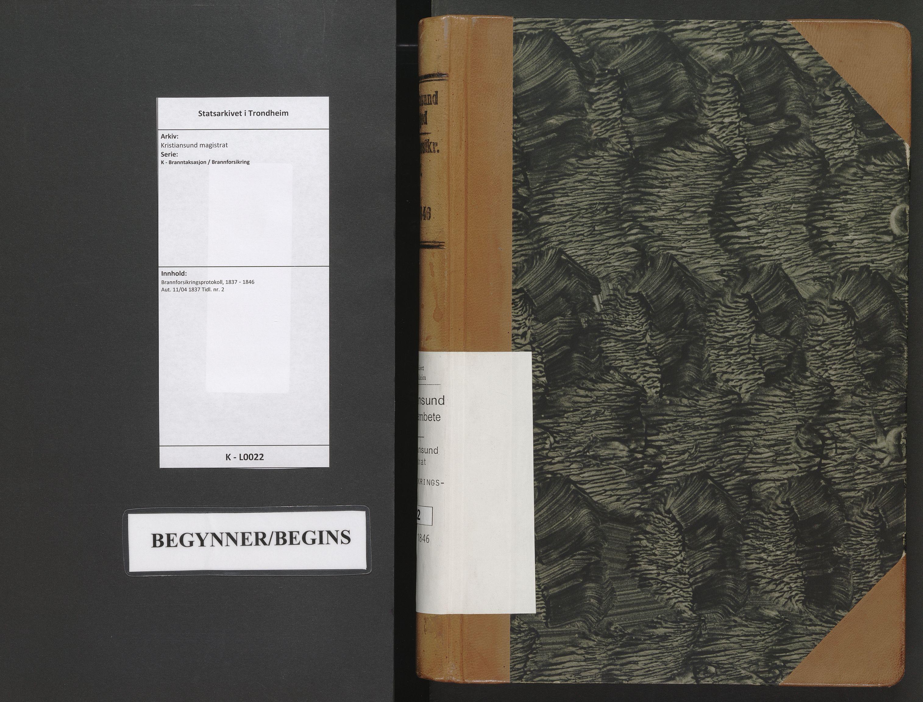 SAT, Kristiansund magistrat, K/L0022: Brannforsikringsprotokoll, 1837-1846