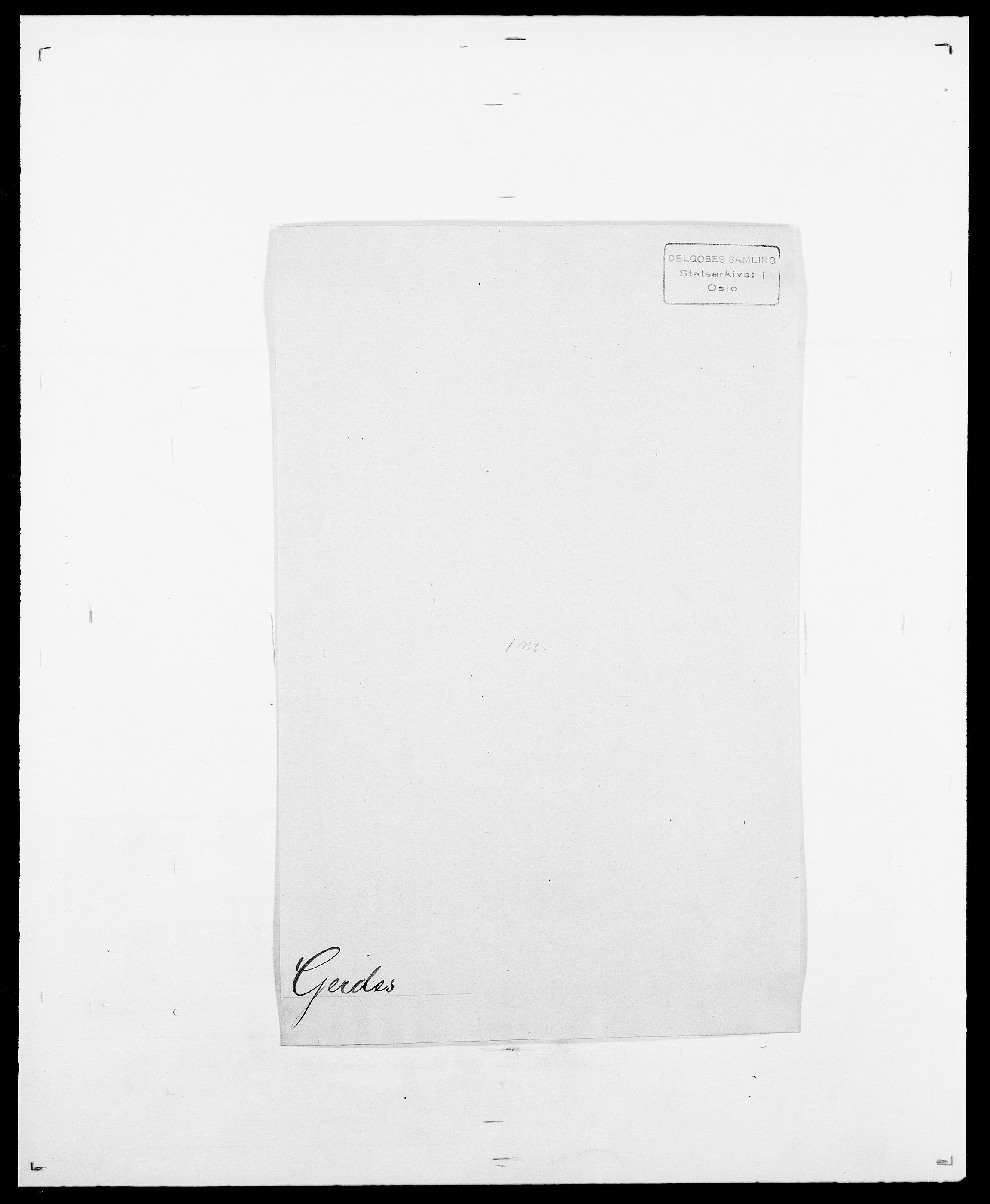 SAO, Delgobe, Charles Antoine - samling, D/Da/L0013: Forbos - Geving, s. 617