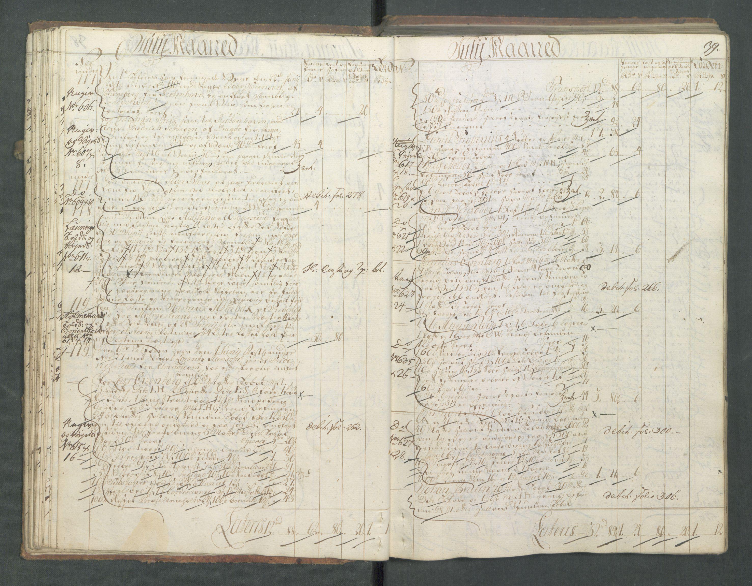 RA, Generaltollkammeret, tollregnskaper, R01/L0028: Tollregnskaper Fredrikshald, 1756, s. 39