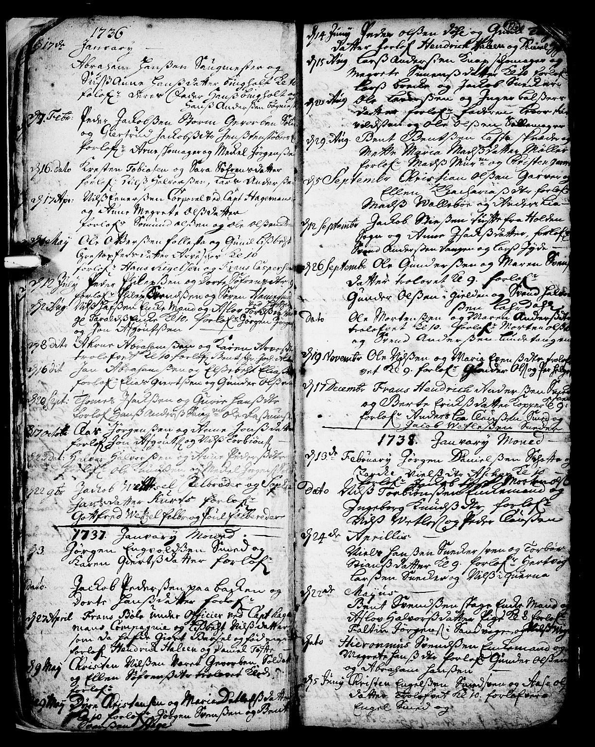 SAKO, Skien kirkebøker, F/Fa/L0002: Ministerialbok nr. 2, 1716-1757, s. 12