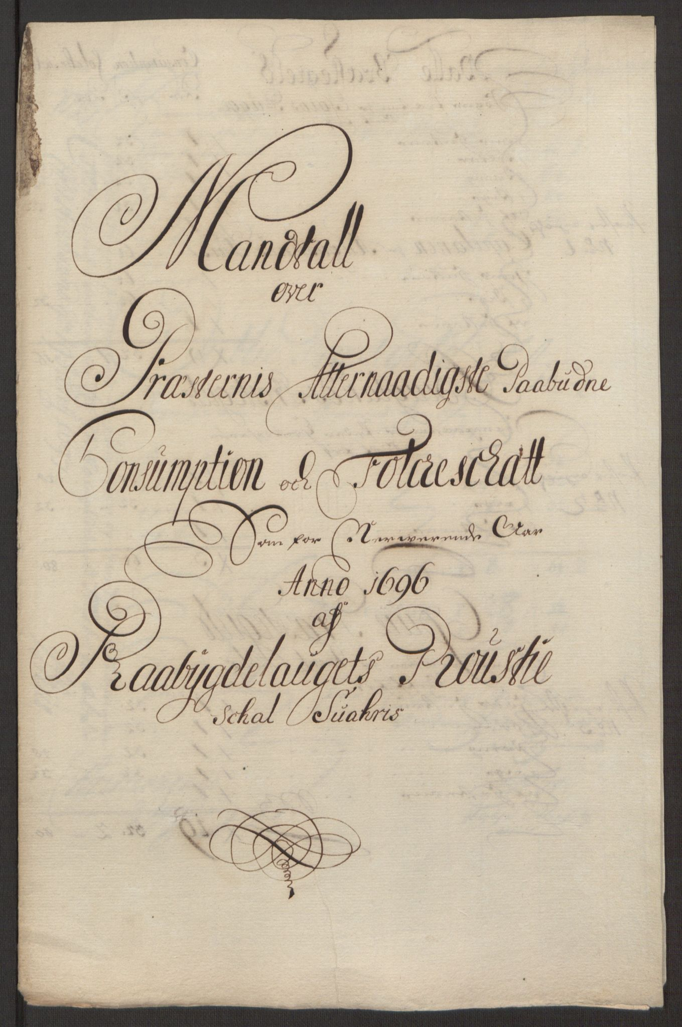 RA, Rentekammeret inntil 1814, Reviderte regnskaper, Fogderegnskap, R40/L2444: Fogderegnskap Råbyggelag, 1693-1696, s. 321