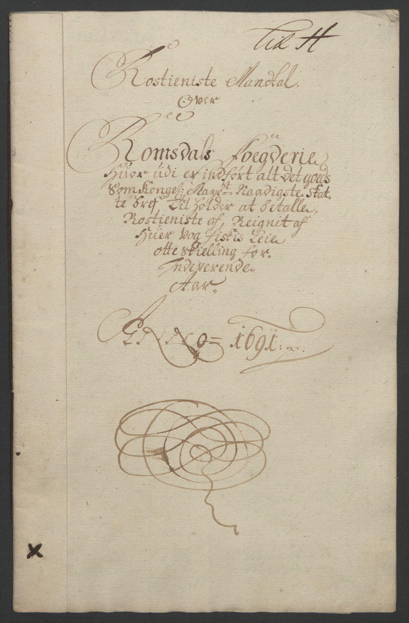 RA, Rentekammeret inntil 1814, Reviderte regnskaper, Fogderegnskap, R55/L3649: Fogderegnskap Romsdal, 1690-1691, s. 290