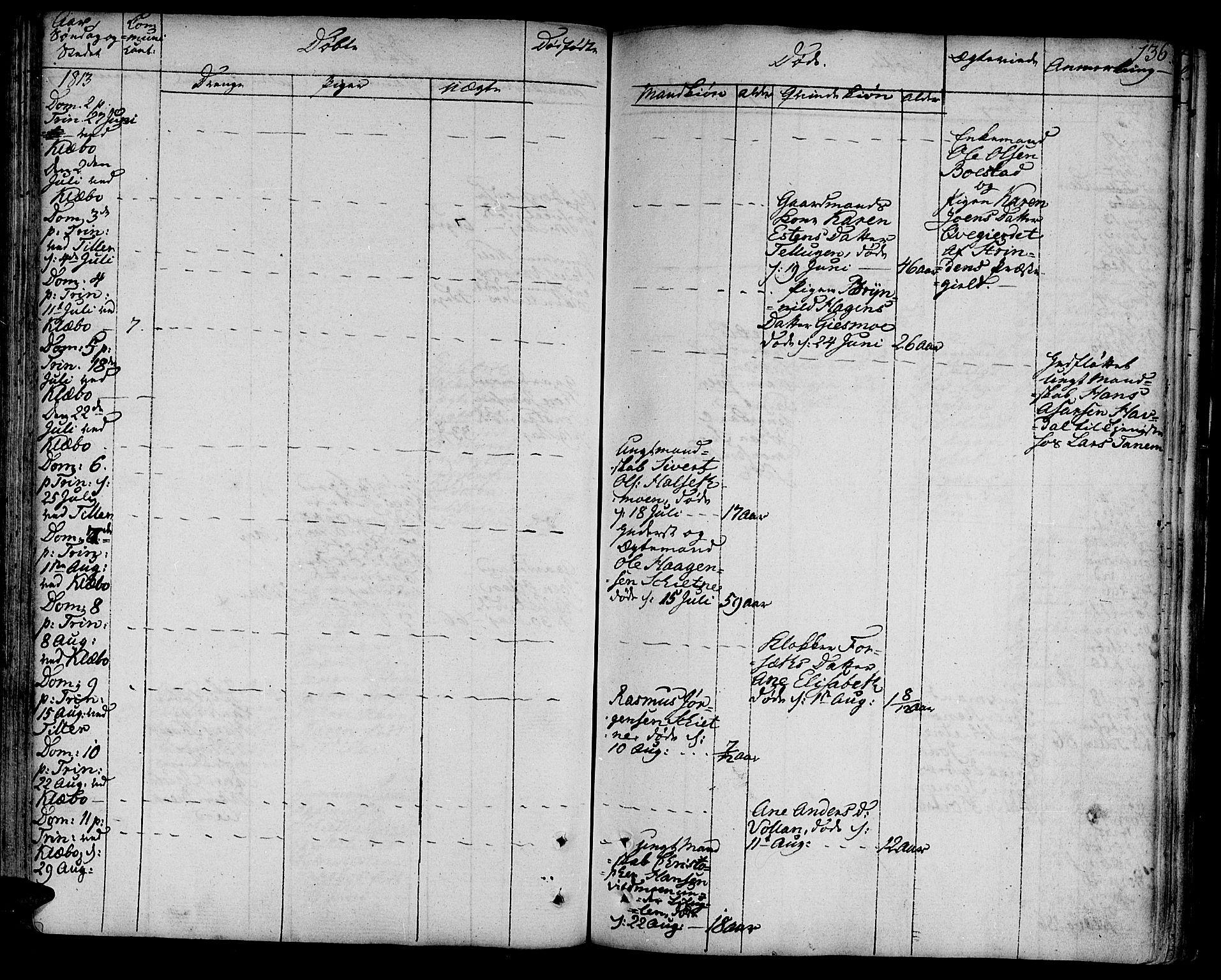SAT, Ministerialprotokoller, klokkerbøker og fødselsregistre - Sør-Trøndelag, 618/L0438: Ministerialbok nr. 618A03, 1783-1815, s. 136