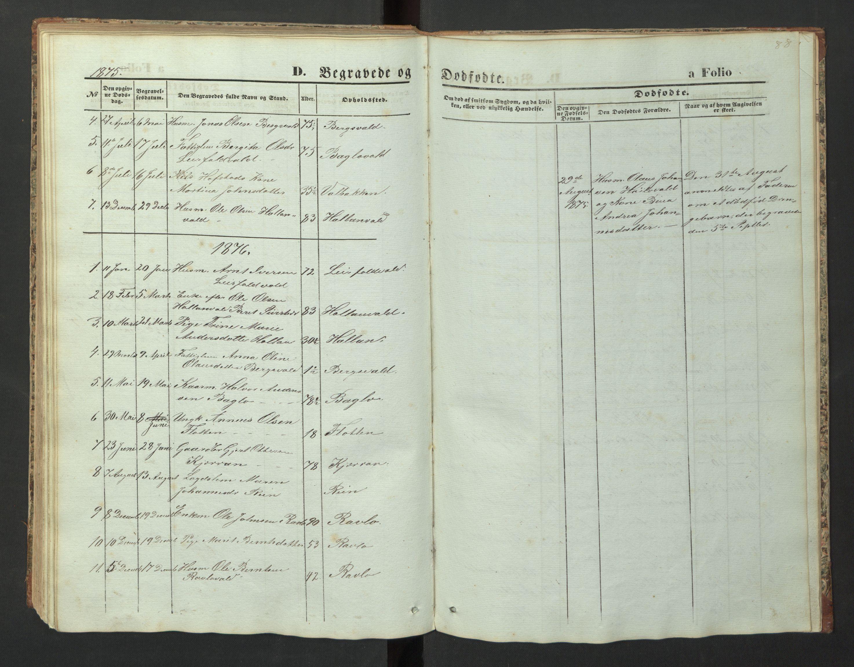 SAT, Ministerialprotokoller, klokkerbøker og fødselsregistre - Nord-Trøndelag, 726/L0271: Klokkerbok nr. 726C02, 1869-1897, s. 88
