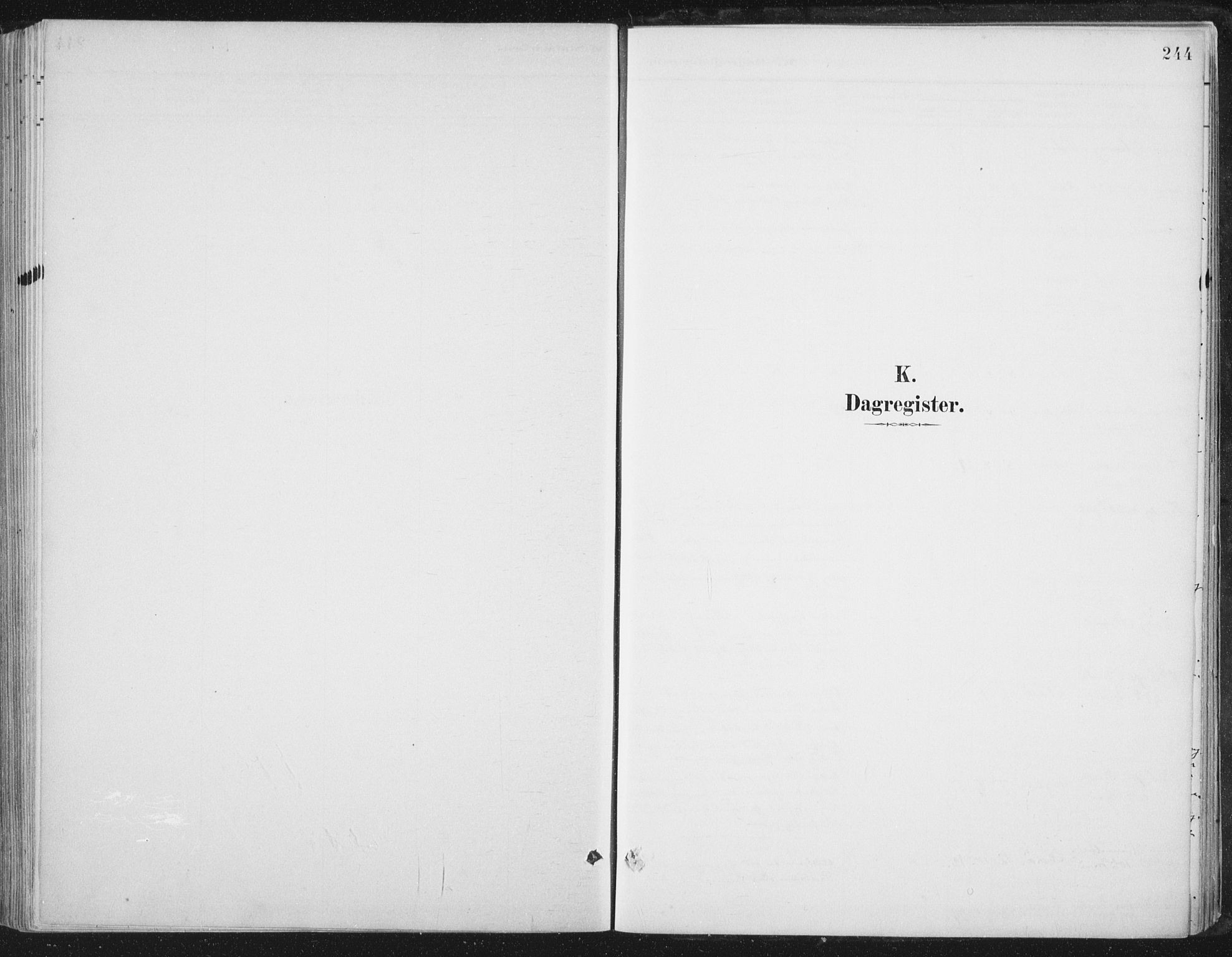 SAT, Ministerialprotokoller, klokkerbøker og fødselsregistre - Nord-Trøndelag, 784/L0673: Ministerialbok nr. 784A08, 1888-1899, s. 244