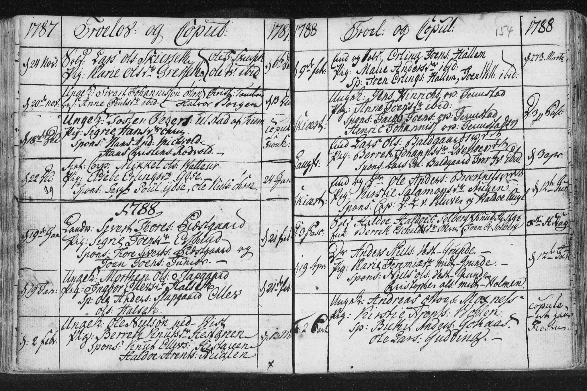 SAT, Ministerialprotokoller, klokkerbøker og fødselsregistre - Nord-Trøndelag, 723/L0232: Ministerialbok nr. 723A03, 1781-1804, s. 154