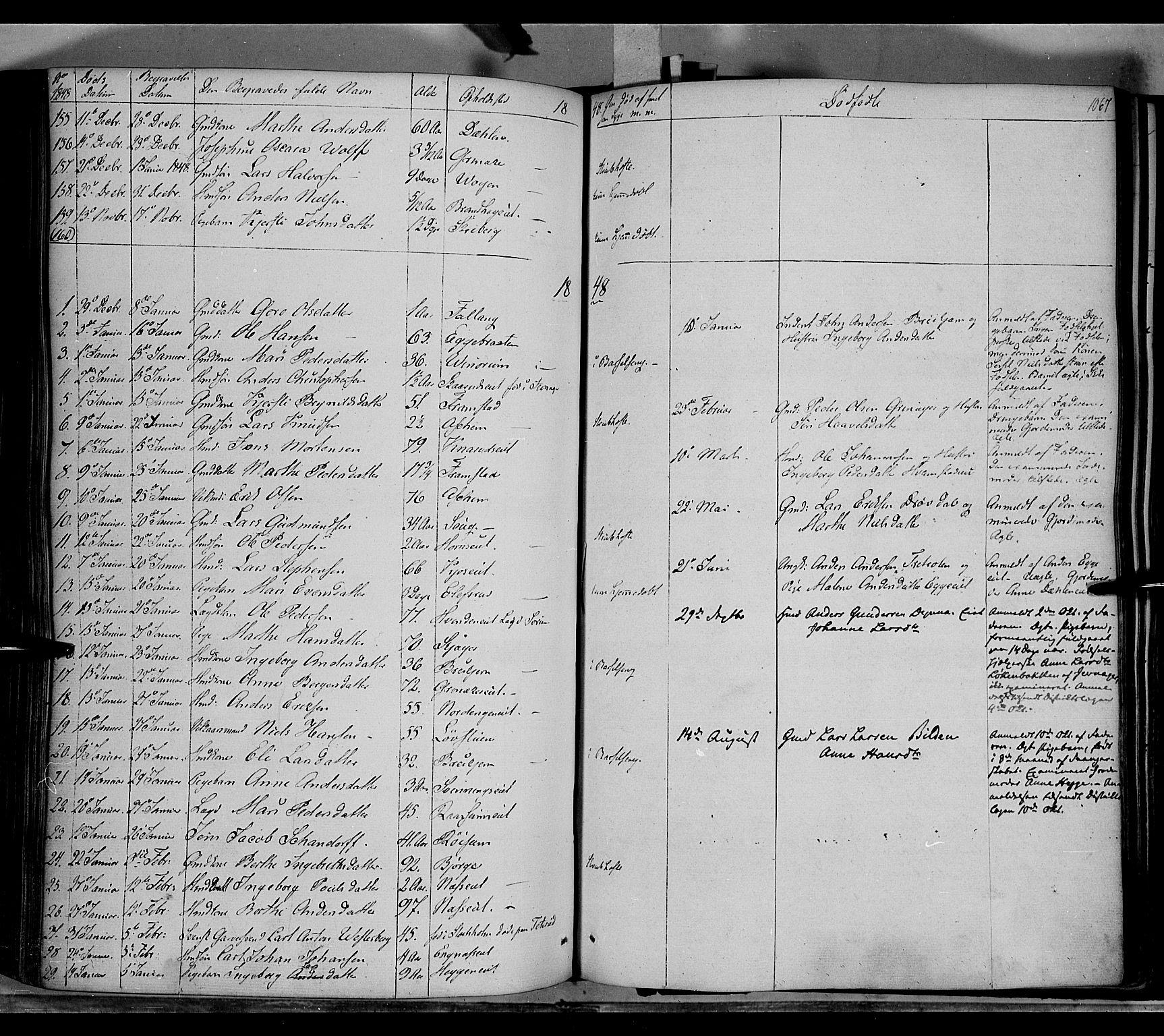 SAH, Gran prestekontor, Ministerialbok nr. 11, 1842-1856, s. 1066-1067