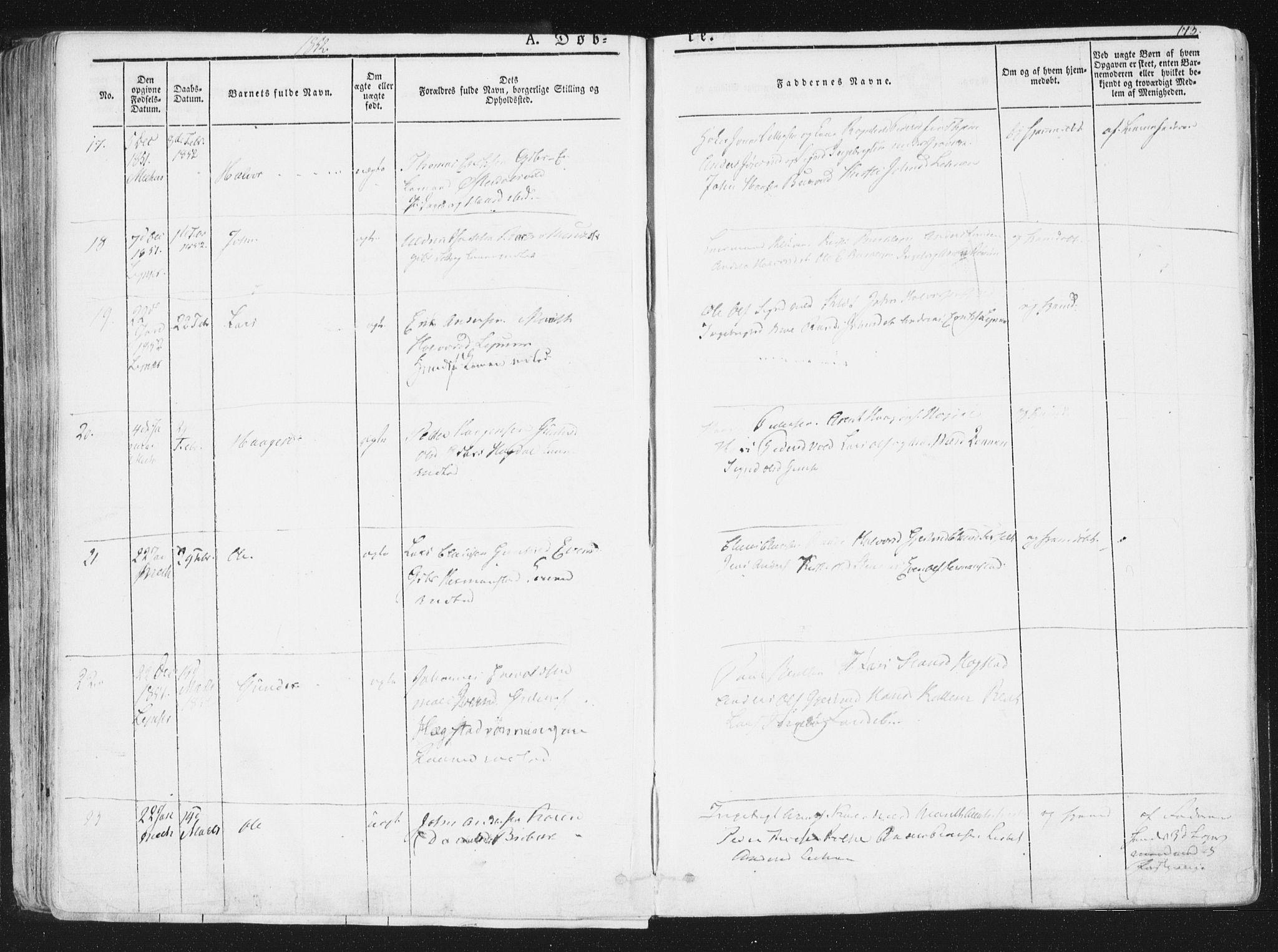 SAT, Ministerialprotokoller, klokkerbøker og fødselsregistre - Sør-Trøndelag, 691/L1074: Ministerialbok nr. 691A06, 1842-1852, s. 173
