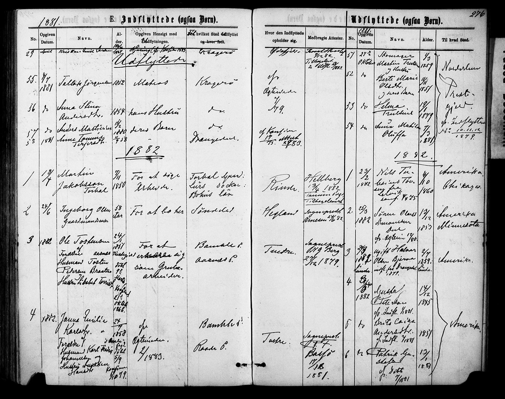SAKO, Sannidal kirkebøker, F/Fa/L0014: Ministerialbok nr. 14, 1874-1883, s. 276