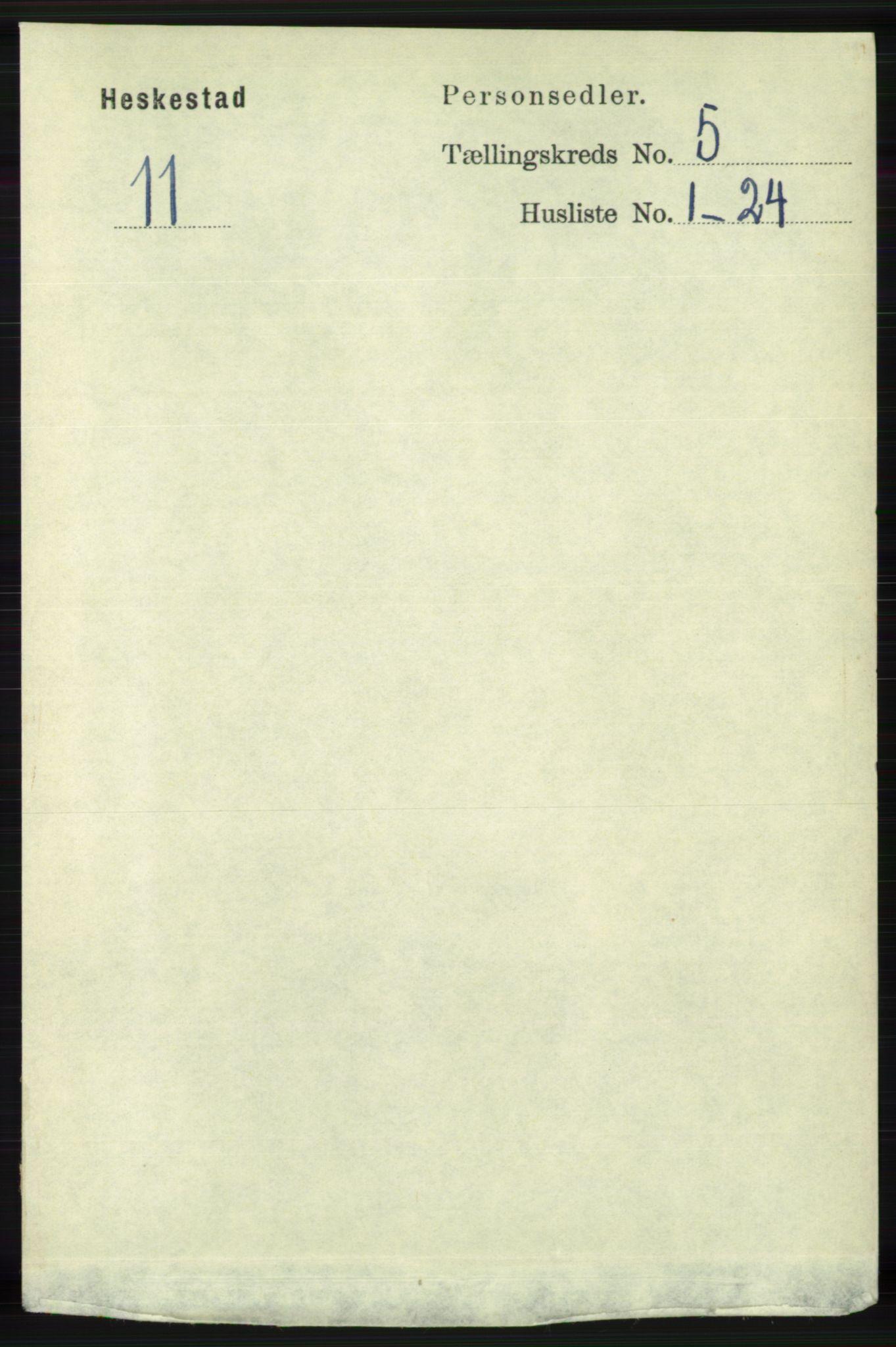 RA, Folketelling 1891 for 1113 Heskestad herred, 1891, s. 871