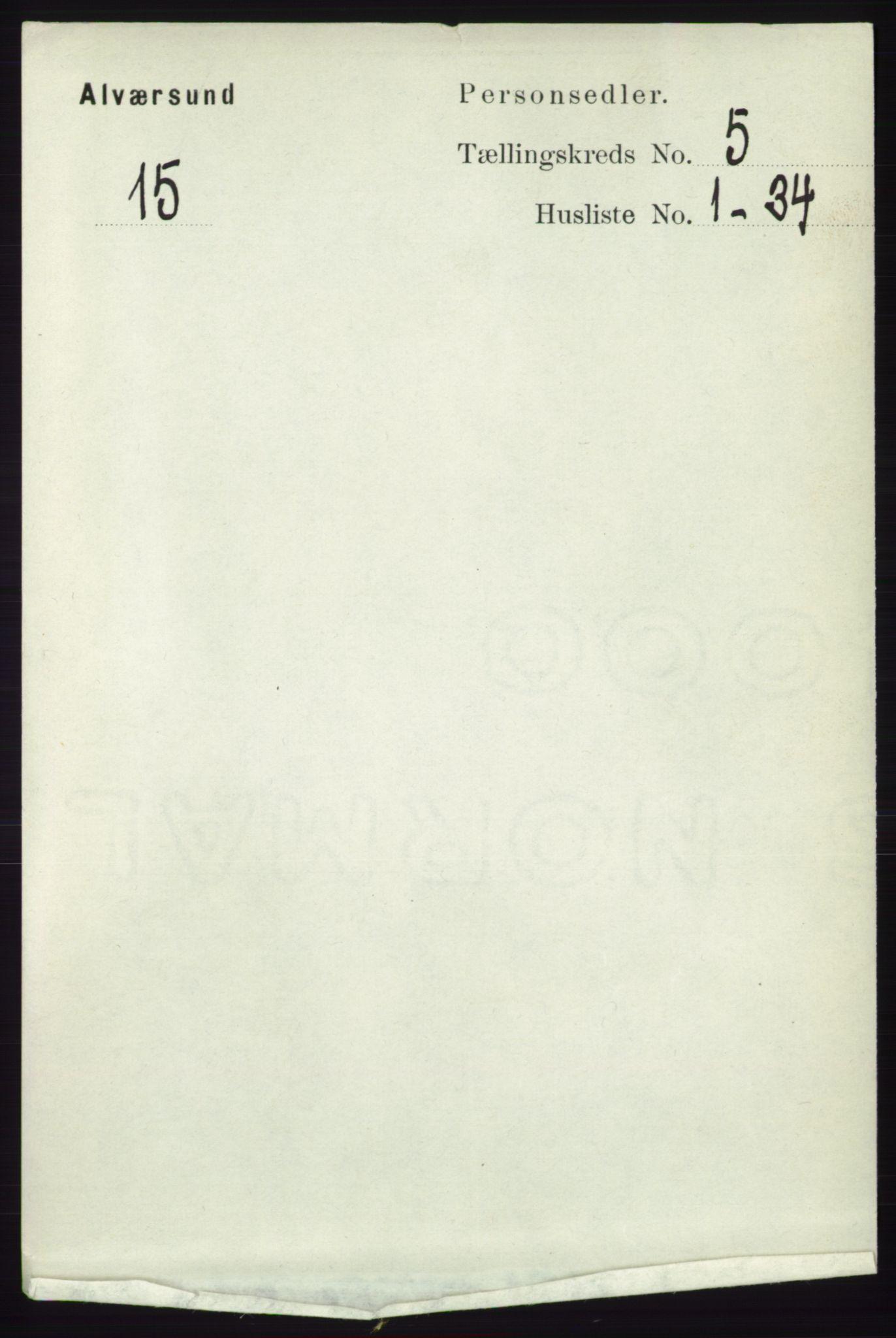 RA, Folketelling 1891 for 1257 Alversund herred, 1891, s. 1792
