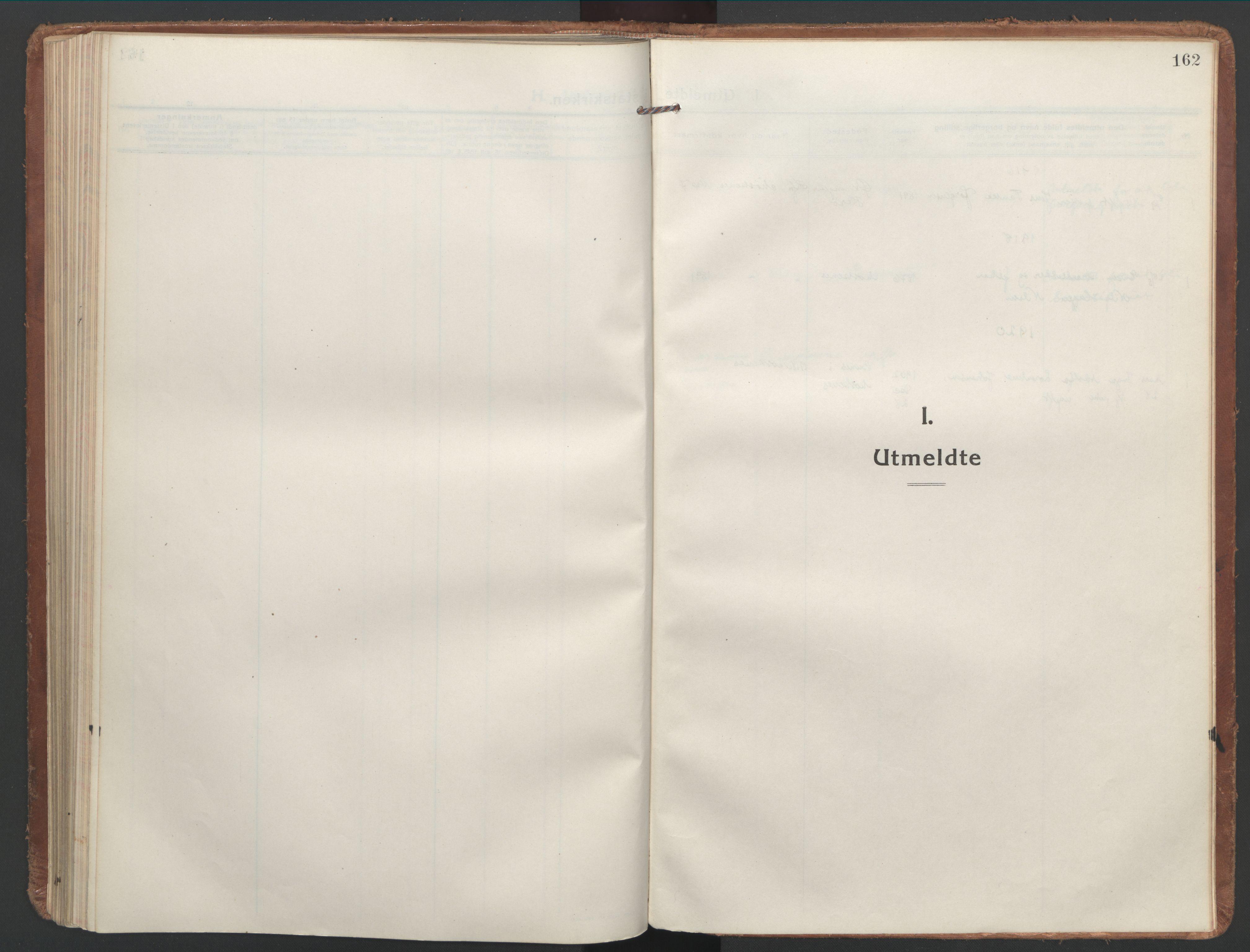 SAT, Ministerialprotokoller, klokkerbøker og fødselsregistre - Nordland, 886/L1222: Ministerialbok nr. 886A04, 1914-1926, s. 162