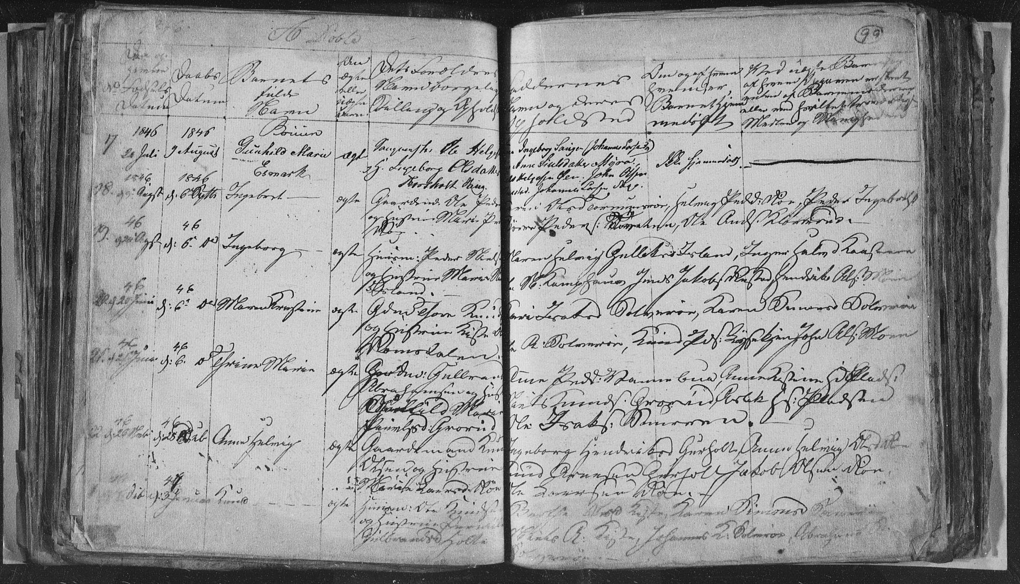 SAKO, Siljan kirkebøker, G/Ga/L0001: Klokkerbok nr. 1, 1827-1847, s. 99