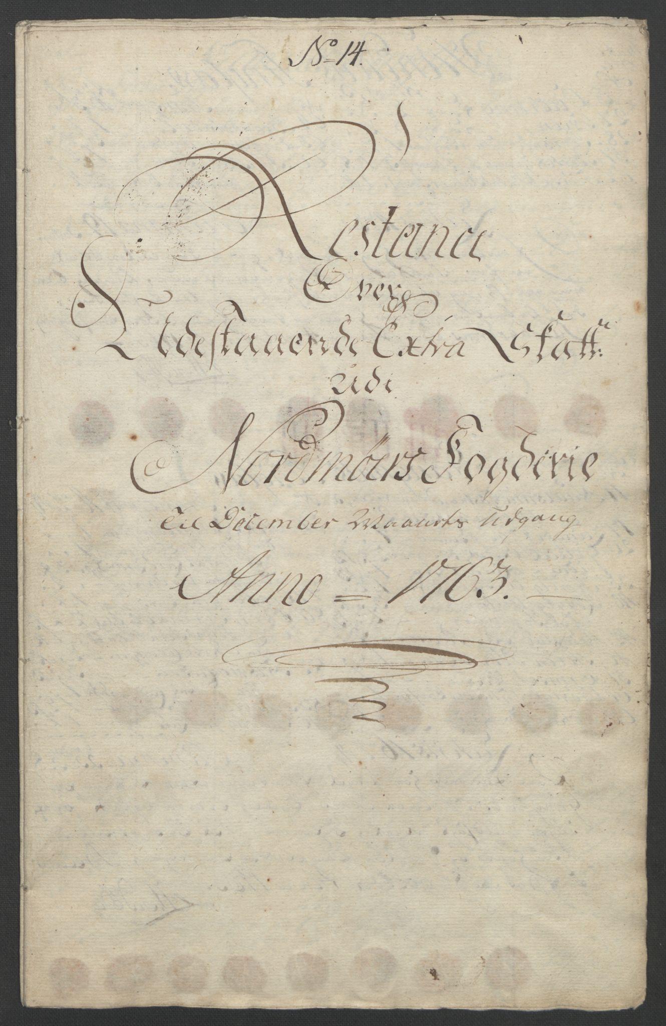 RA, Rentekammeret inntil 1814, Reviderte regnskaper, Fogderegnskap, R56/L3841: Ekstraskatten Nordmøre, 1762-1763, s. 350