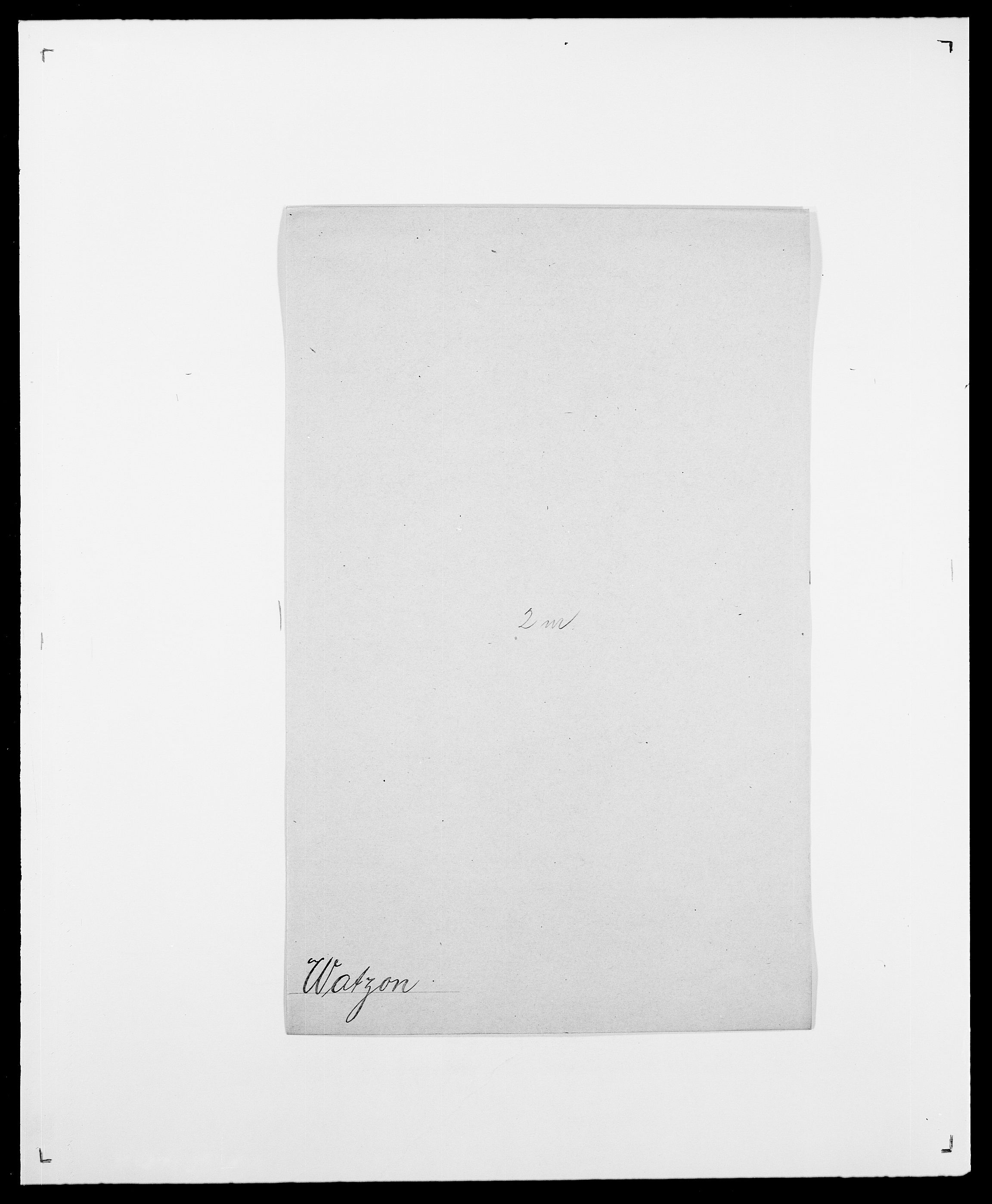 SAO, Delgobe, Charles Antoine - samling, D/Da/L0040: Usgaard - Velund, s. 390