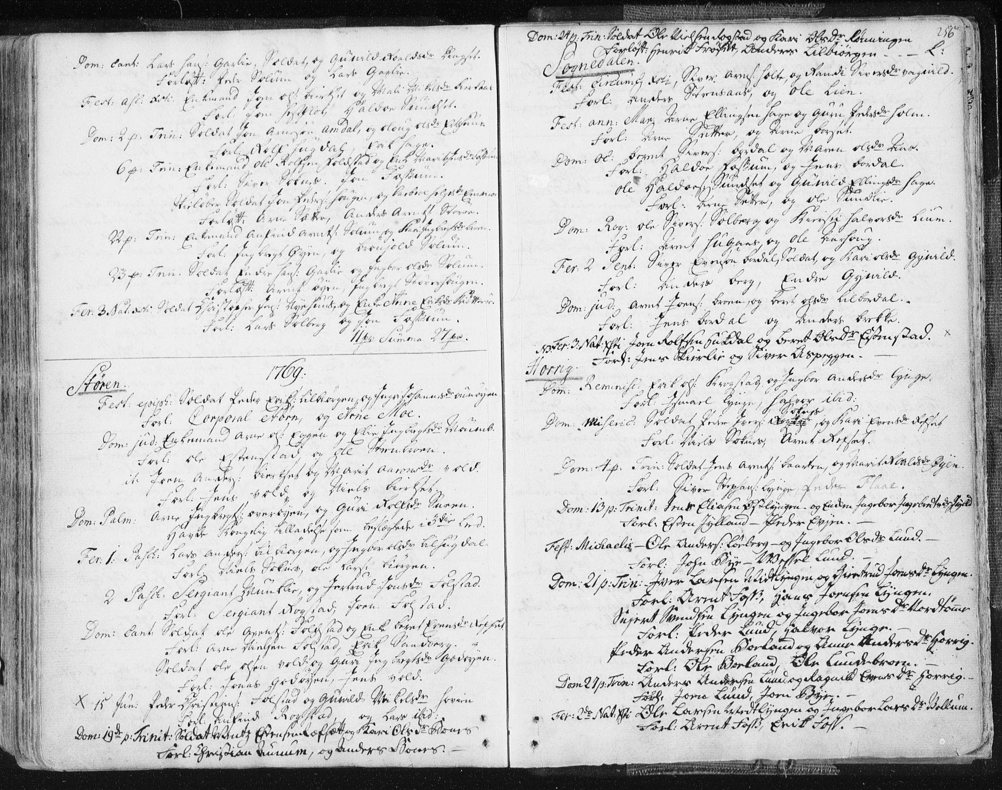 SAT, Ministerialprotokoller, klokkerbøker og fødselsregistre - Sør-Trøndelag, 687/L0991: Ministerialbok nr. 687A02, 1747-1790, s. 256
