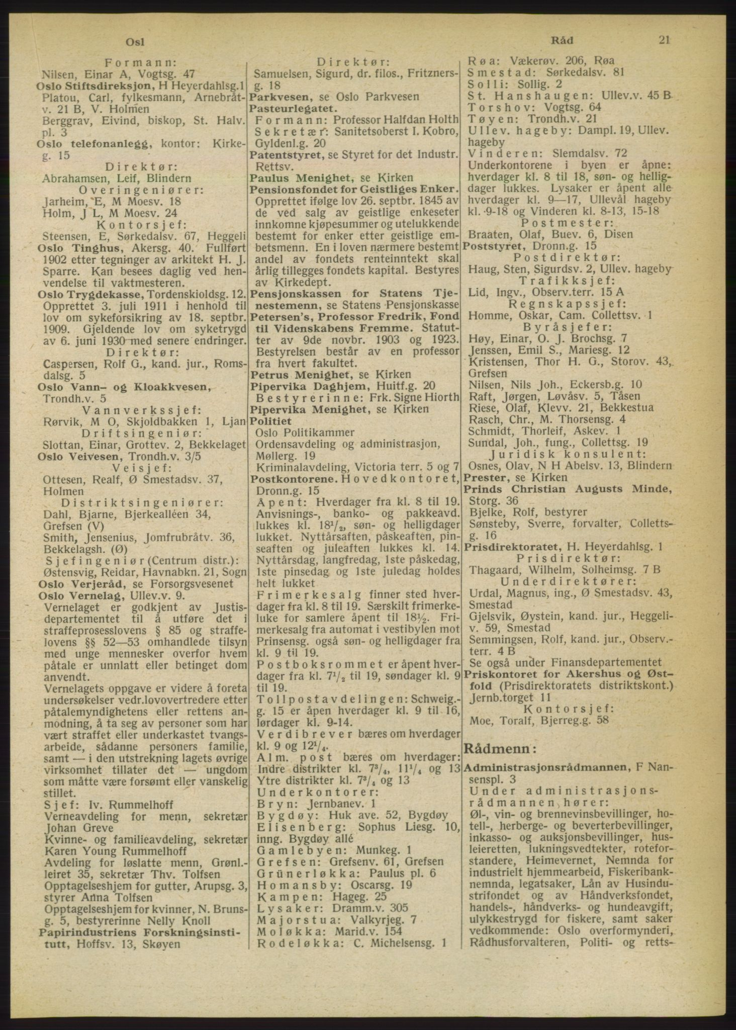 PUBL, Kristiania/Oslo adressebok, 1949, s. 21