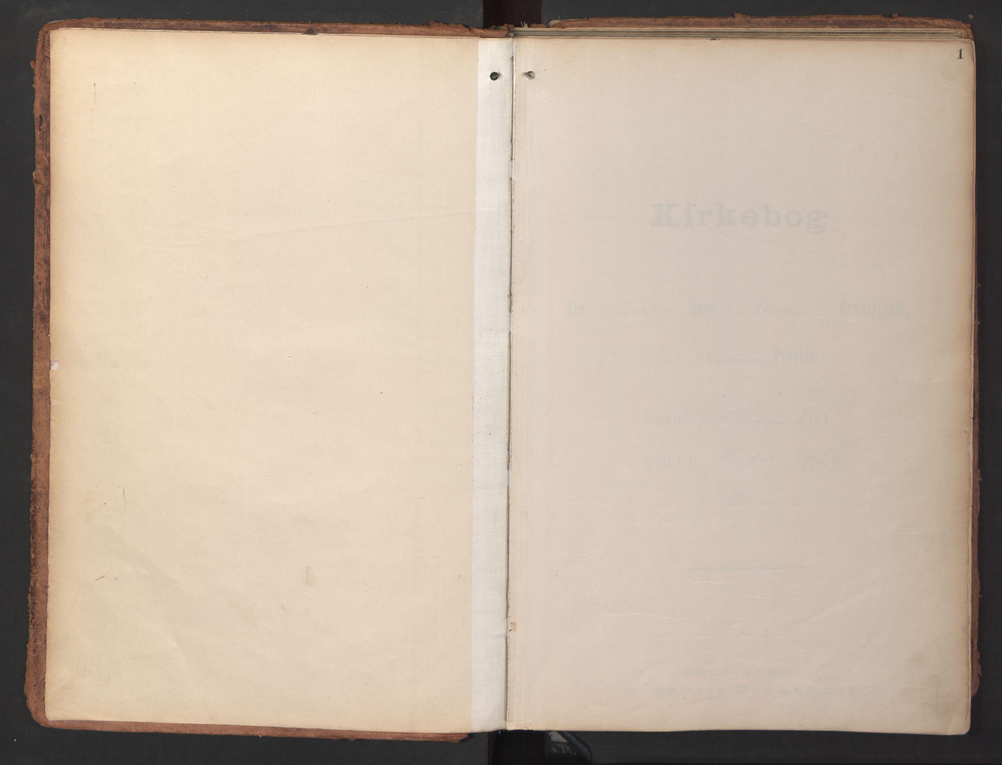 SAT, Ministerialprotokoller, klokkerbøker og fødselsregistre - Sør-Trøndelag, 690/L1050: Ministerialbok nr. 690A01, 1889-1929, s. 1