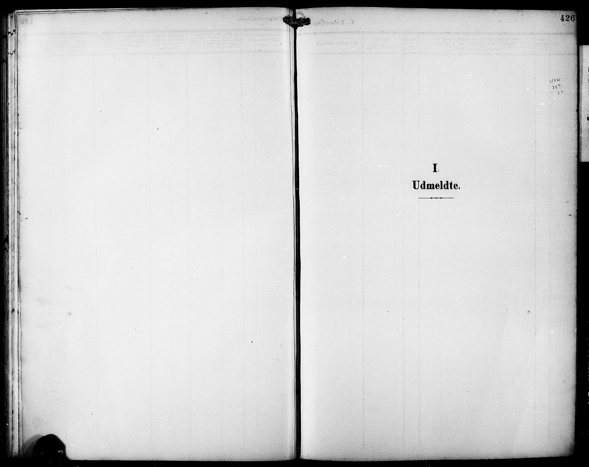 SAB, Fjell sokneprestembete, H/Hab: Klokkerbok nr. A 5, 1899-1918, s. 426