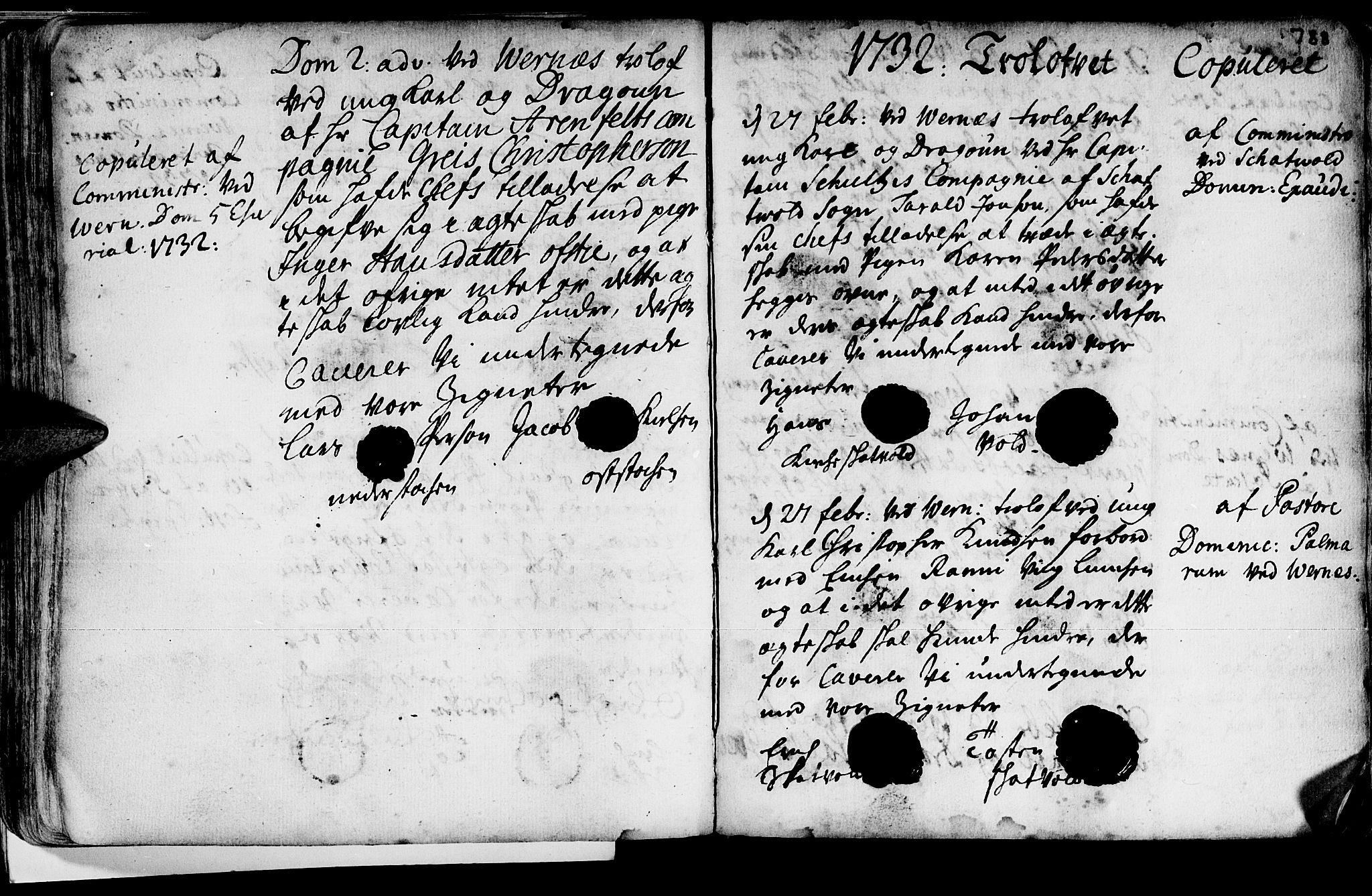 SAT, Ministerialprotokoller, klokkerbøker og fødselsregistre - Nord-Trøndelag, 709/L0055: Ministerialbok nr. 709A03, 1730-1739, s. 787-788