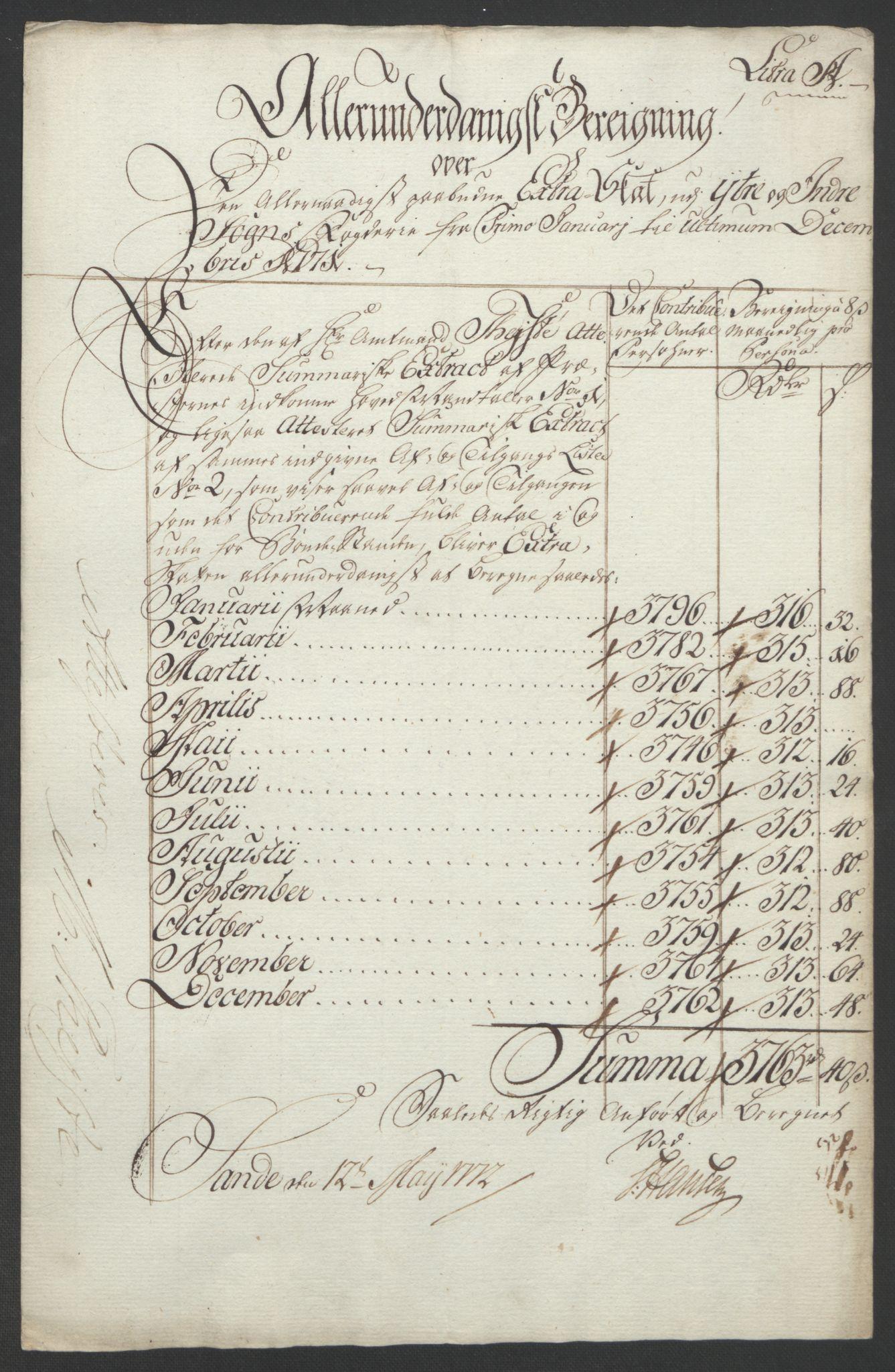 RA, Rentekammeret inntil 1814, Realistisk ordnet avdeling, Ol/L0018: [Gg 10]: Ekstraskatten, 23.09.1762. Sogn, 1762-1772, s. 332