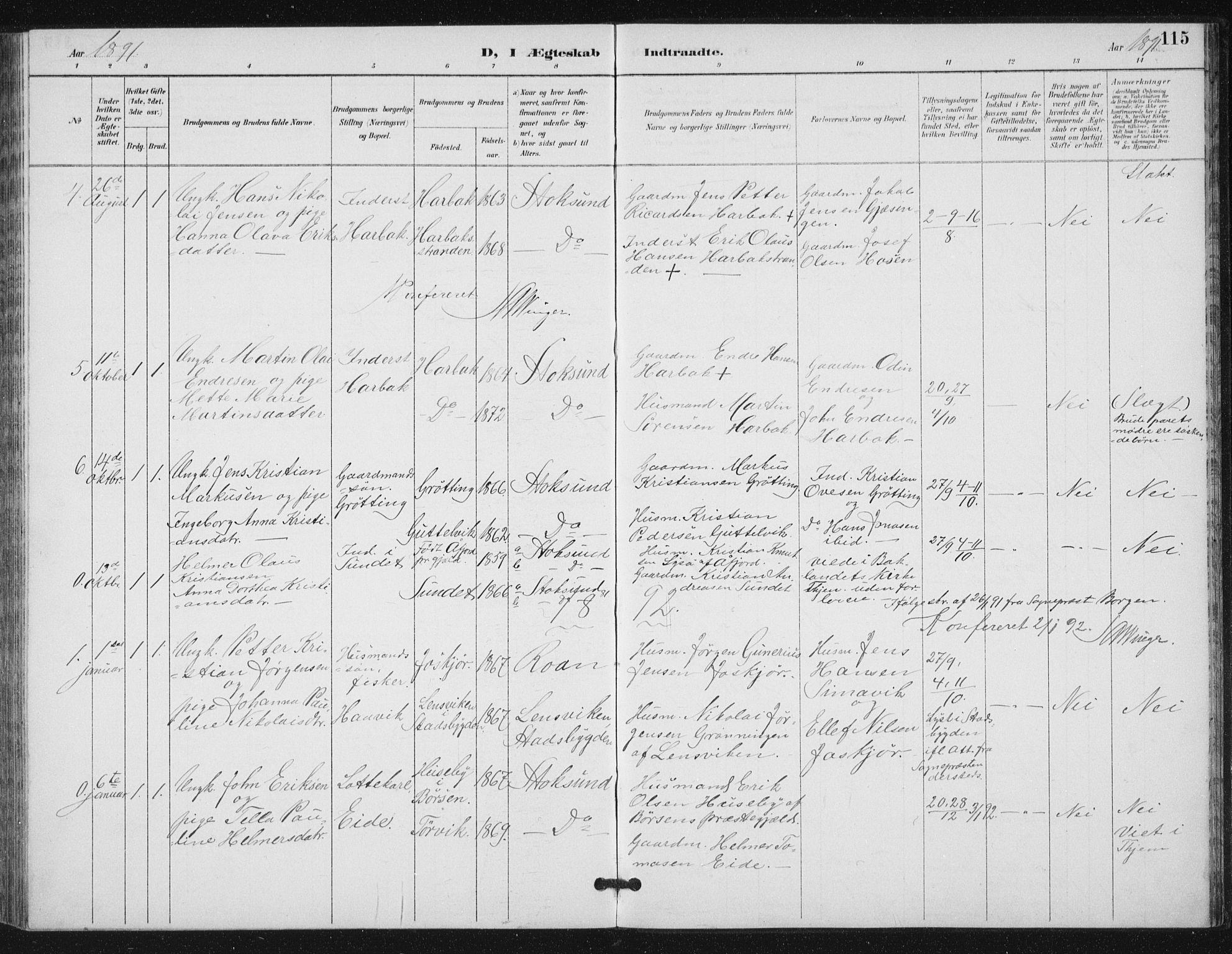 SAT, Ministerialprotokoller, klokkerbøker og fødselsregistre - Sør-Trøndelag, 656/L0698: Klokkerbok nr. 656C04, 1890-1904, s. 115