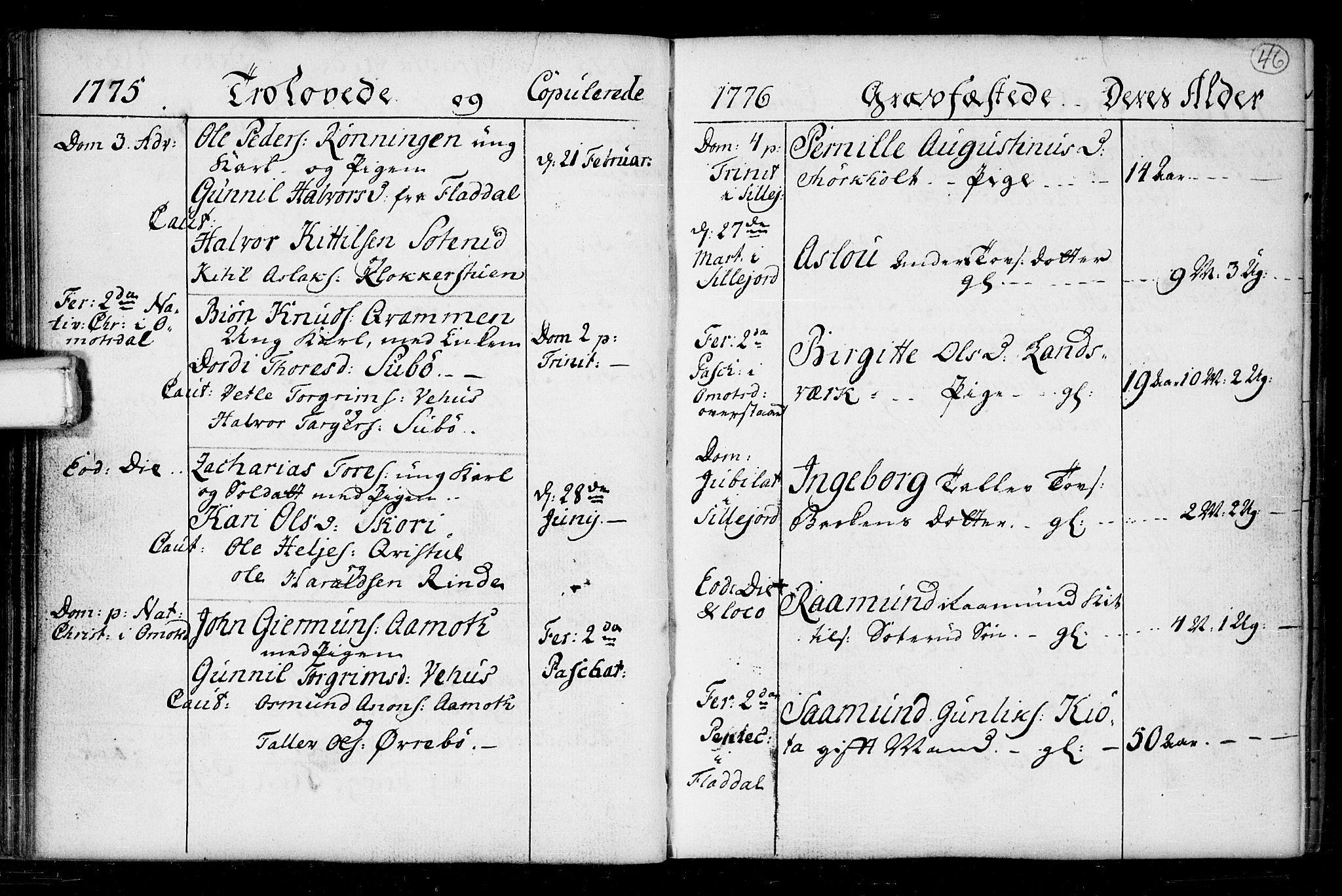 SAKO, Seljord kirkebøker, F/Fa/L0008: Ministerialbok nr. I 8, 1755-1814, s. 46