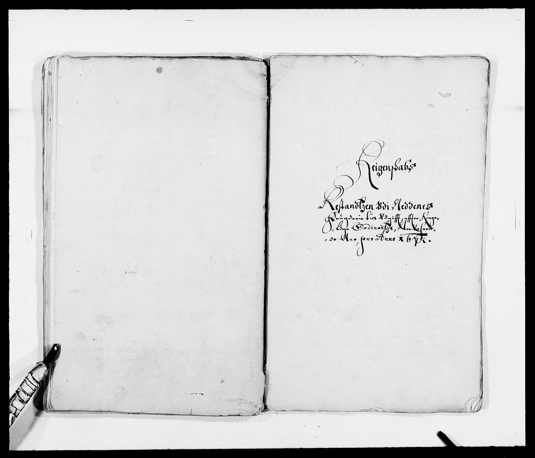 RA, Rentekammeret inntil 1814, Reviderte regnskaper, Fogderegnskap, R39/L2300: Fogderegnskap Nedenes, 1672-1674, s. 98