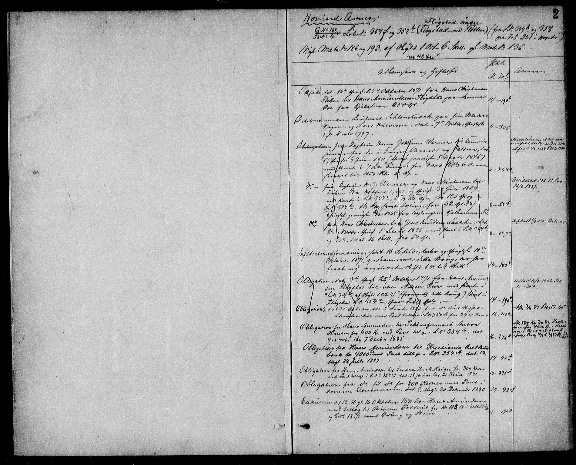 SAO, Nes tingrett, G/Ga/Gab/Gaba/L0010: Panteregister nr. I 10, s. 2