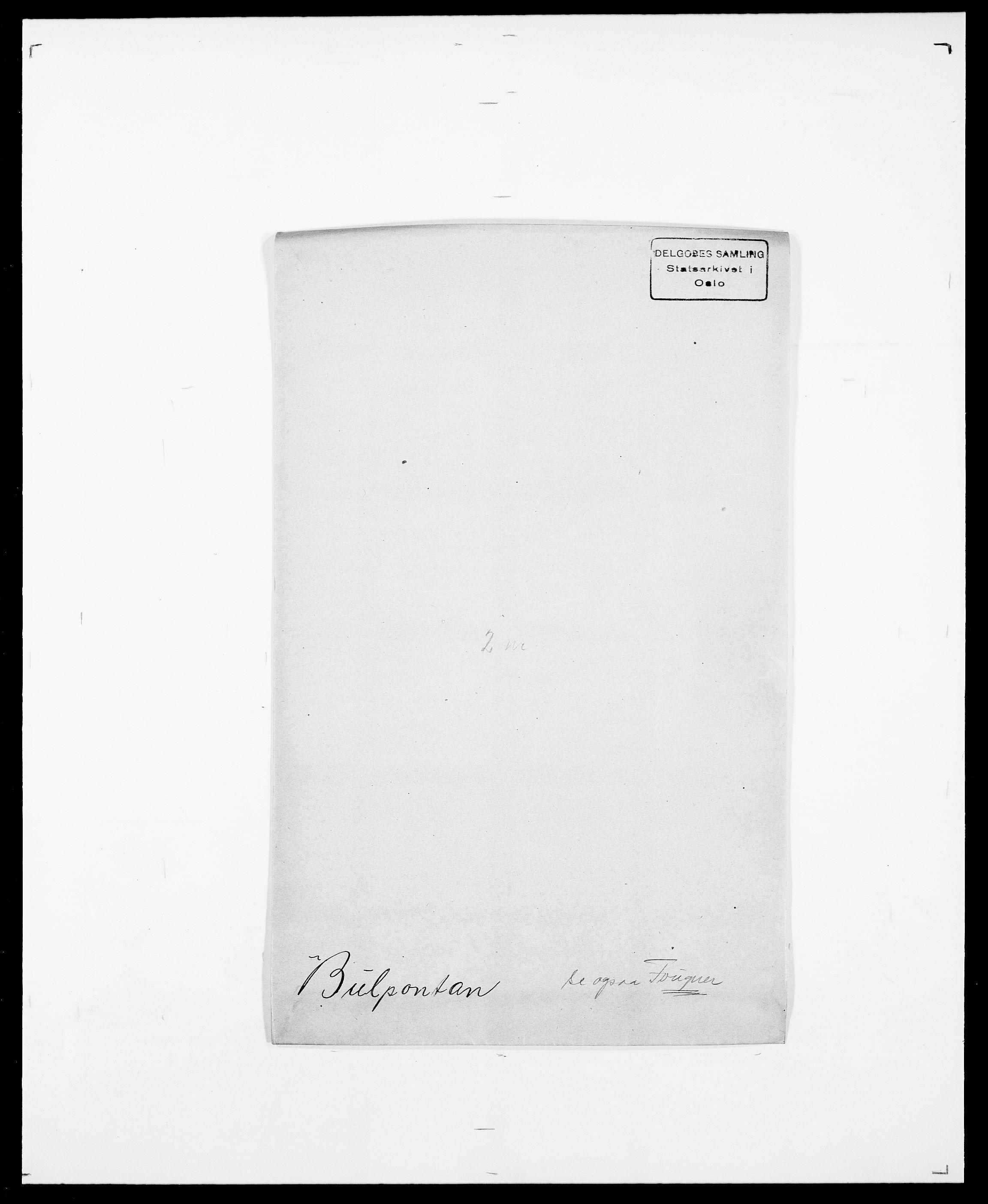 SAO, Delgobe, Charles Antoine - samling, D/Da/L0007: Buaas - Caphengst, s. 403