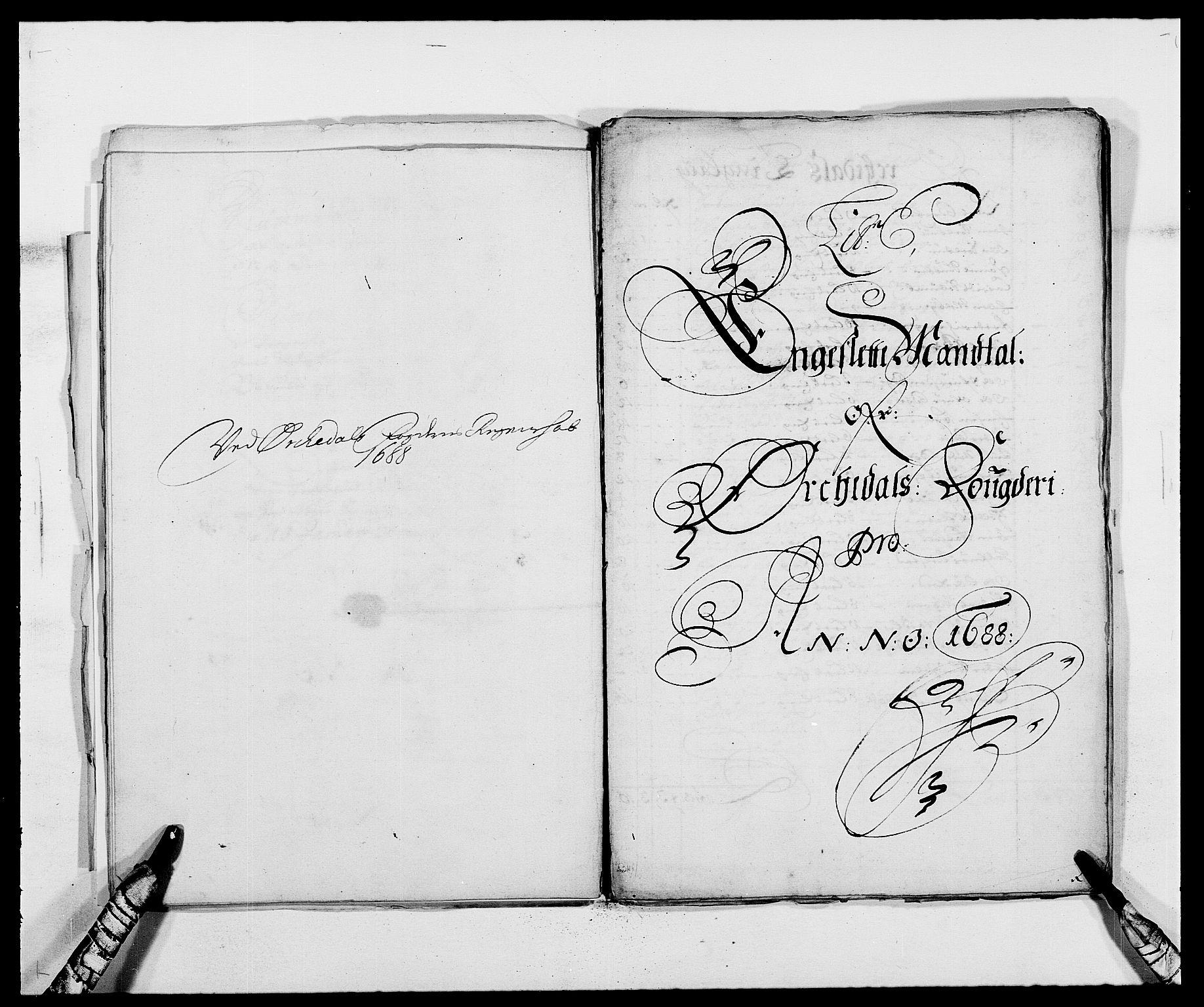 RA, Rentekammeret inntil 1814, Reviderte regnskaper, Fogderegnskap, R58/L3935: Fogderegnskap Orkdal, 1687-1688, s. 269
