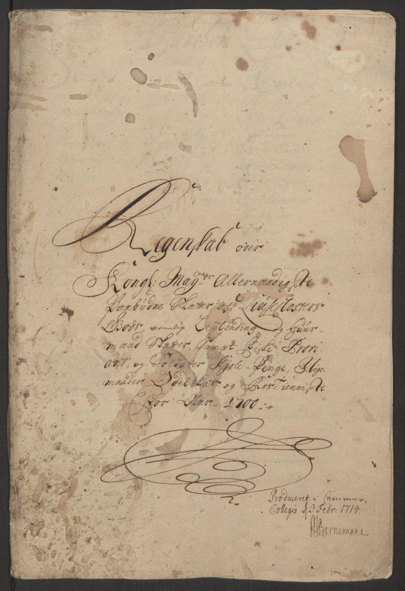 RA, Rentekammeret inntil 1814, Reviderte regnskaper, Fogderegnskap, R50/L3159: Fogderegnskap Lyse kloster, 1691-1709, s. 113