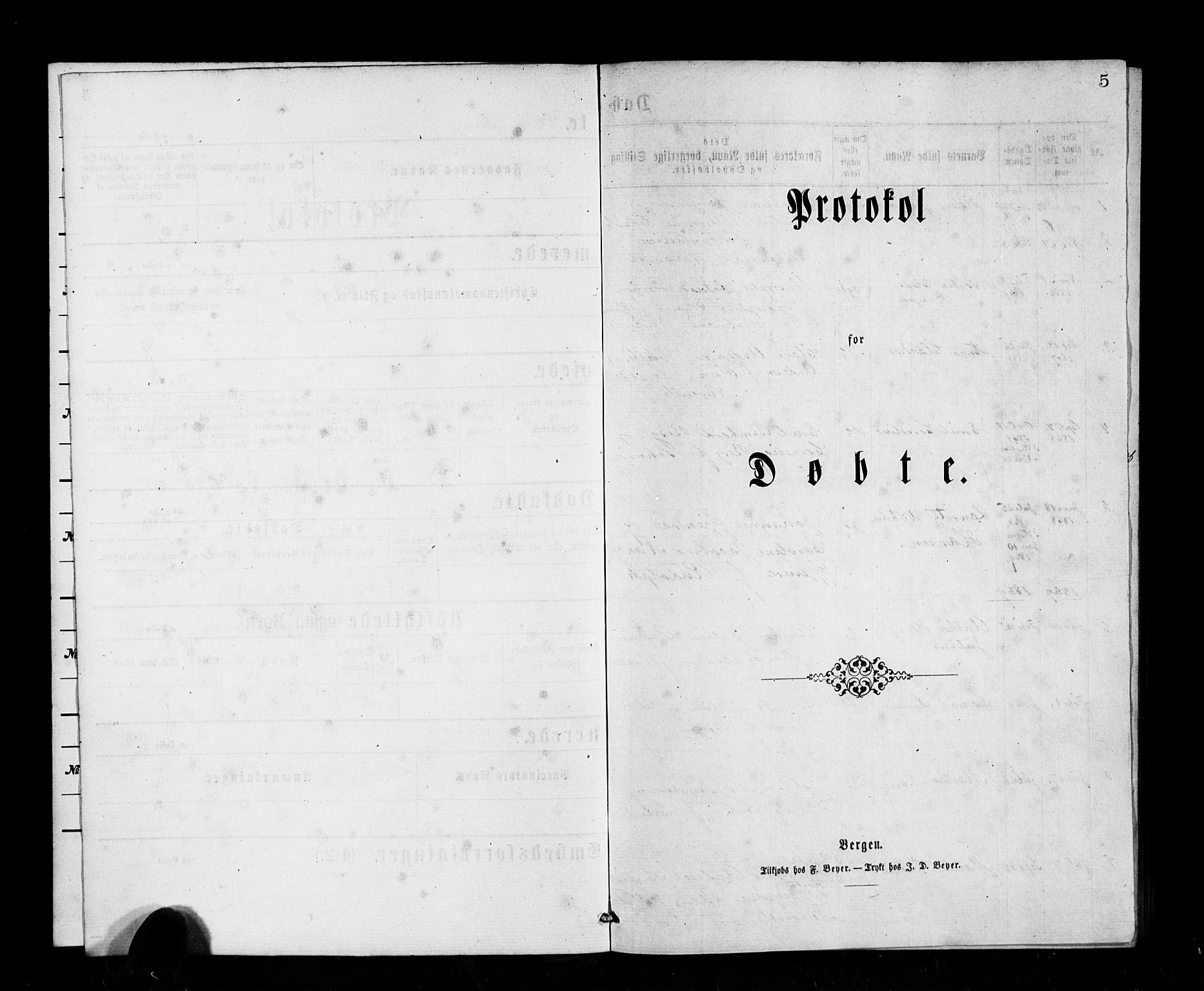 SAB, Den Norske Sjømannsmisjon i utlandet*, Ministerialbok nr. A 1, 1865-1883, s. 5