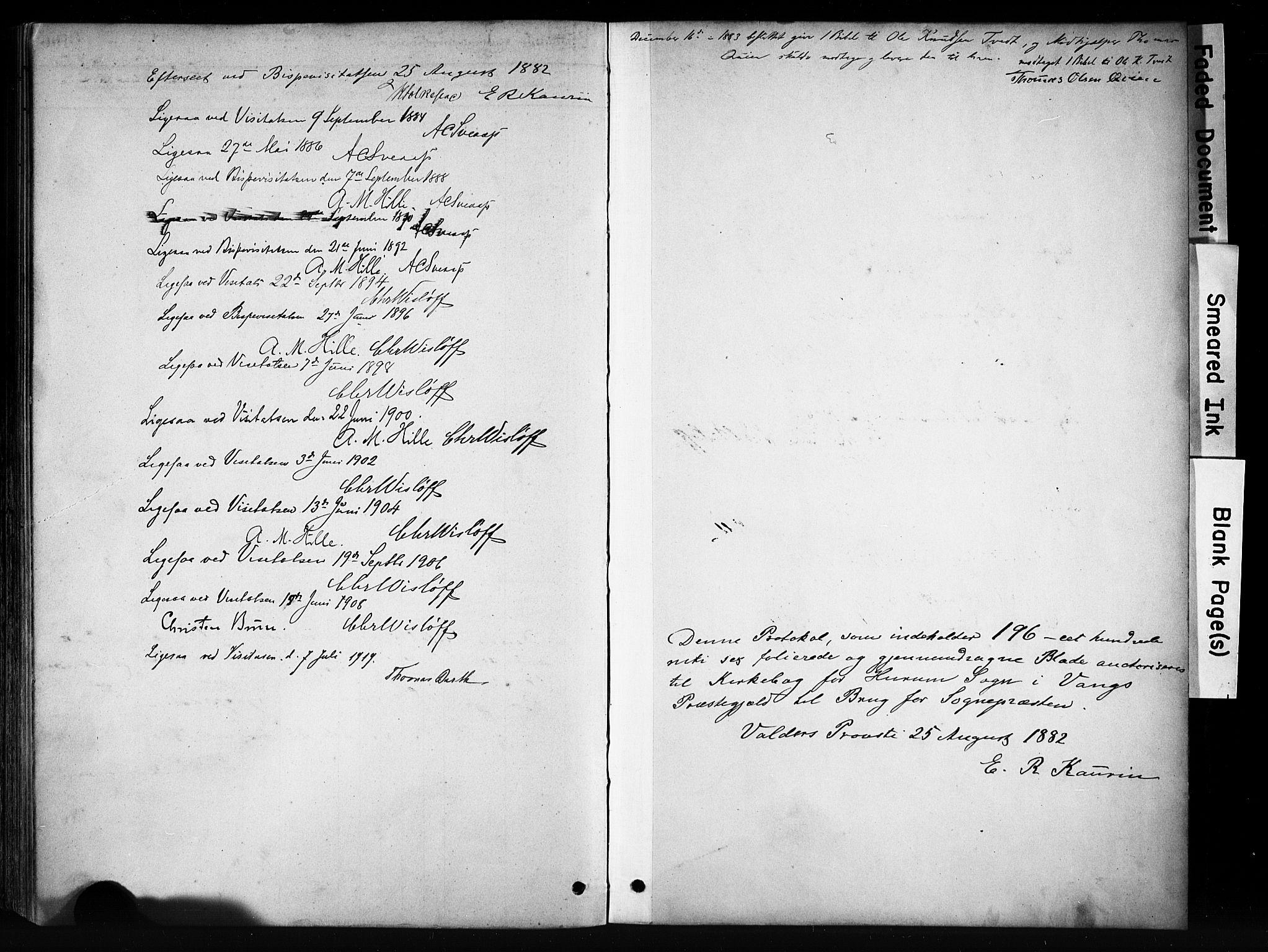 SAH, Vang prestekontor, Valdres, Ministerialbok nr. 9, 1882-1914, s. 186