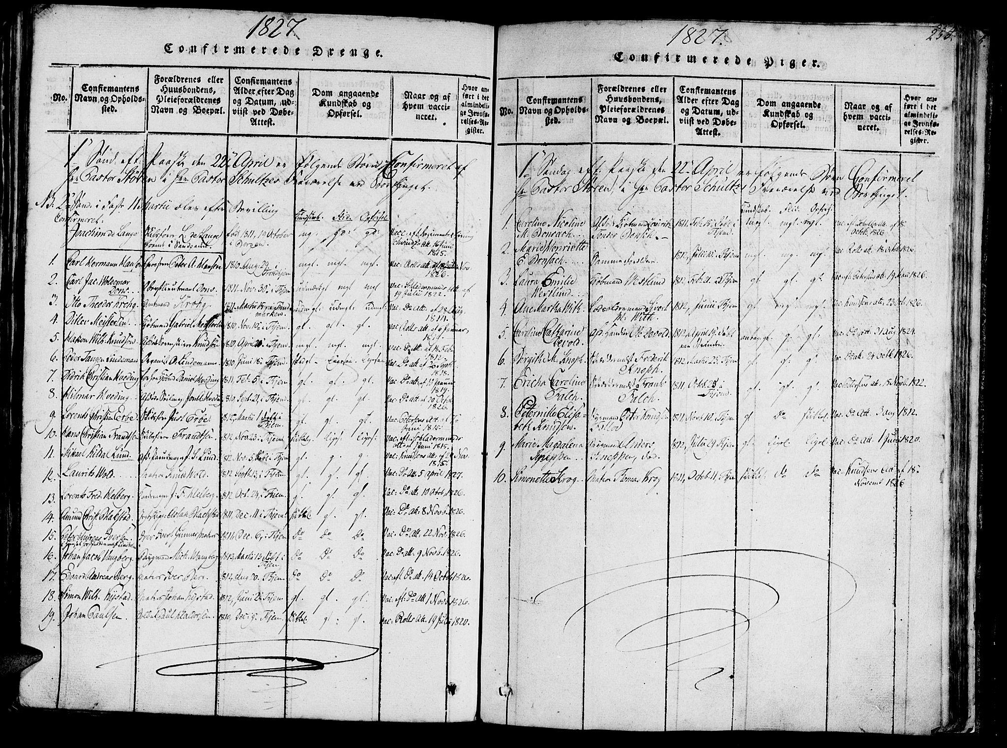 SAT, Ministerialprotokoller, klokkerbøker og fødselsregistre - Sør-Trøndelag, 602/L0135: Klokkerbok nr. 602C03, 1815-1832, s. 253