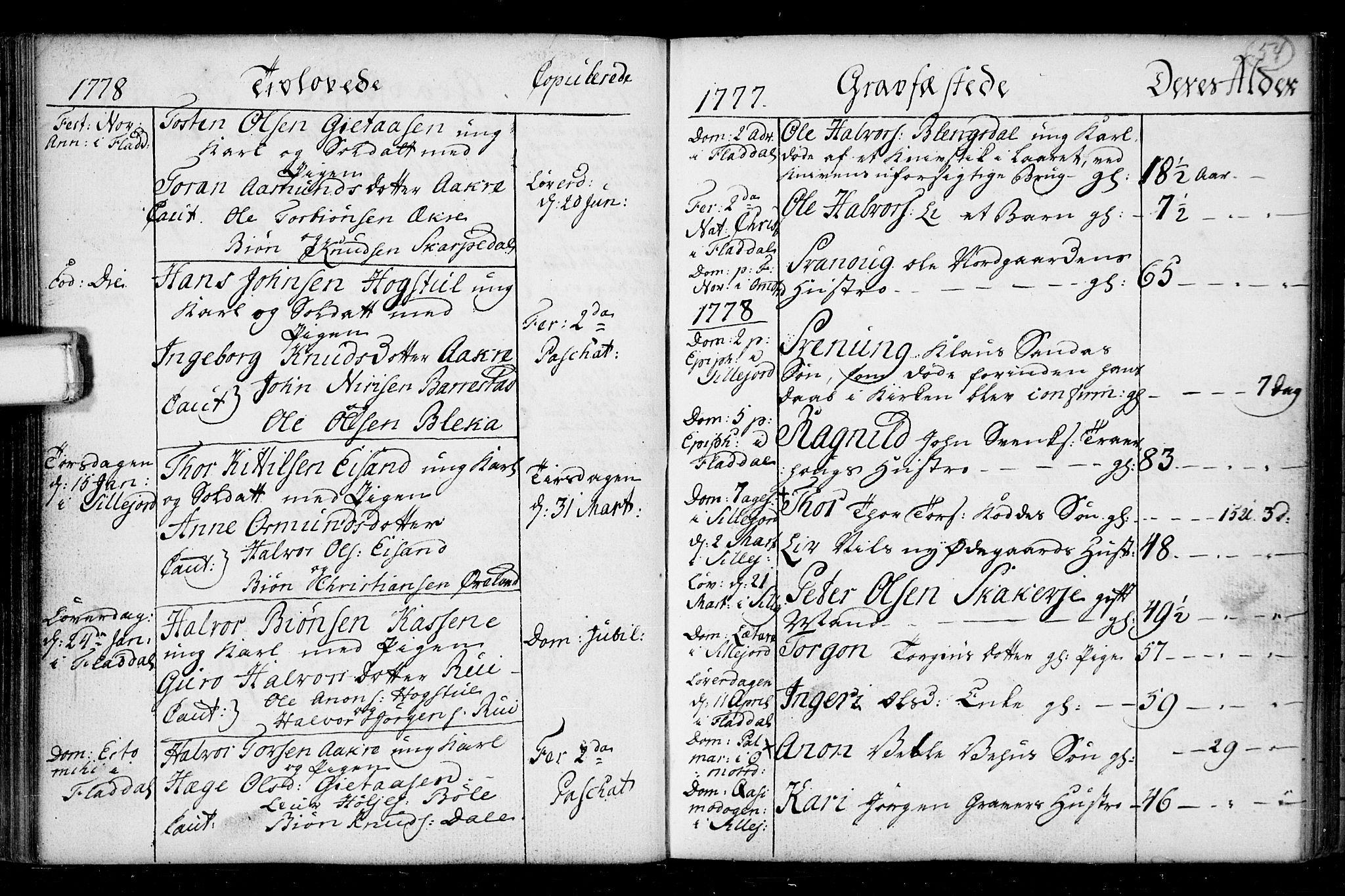 SAKO, Seljord kirkebøker, F/Fa/L0008: Ministerialbok nr. I 8, 1755-1814, s. 54