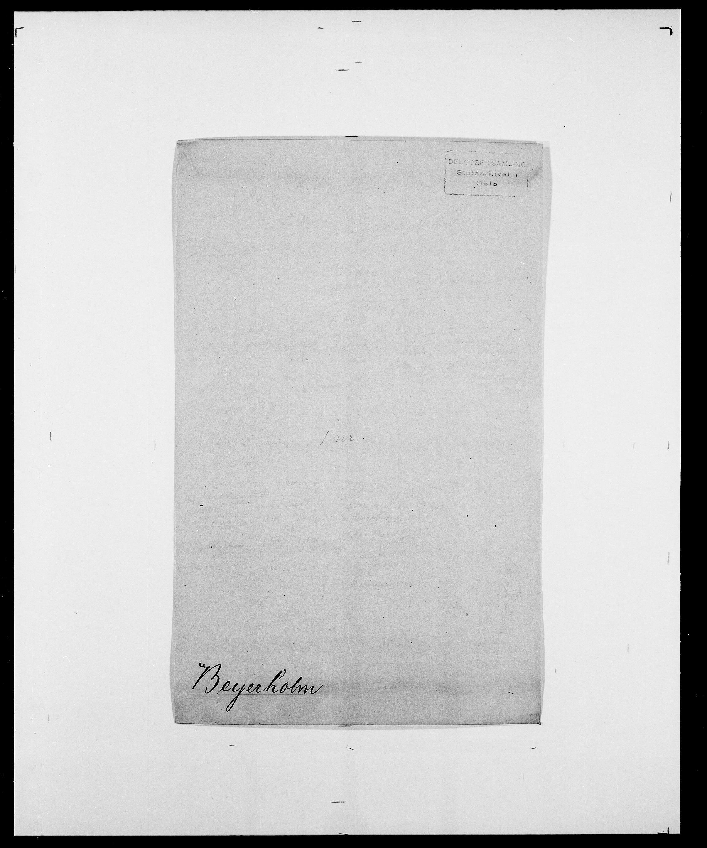 SAO, Delgobe, Charles Antoine - samling, D/Da/L0004: Bergendahl - Blære, s. 154