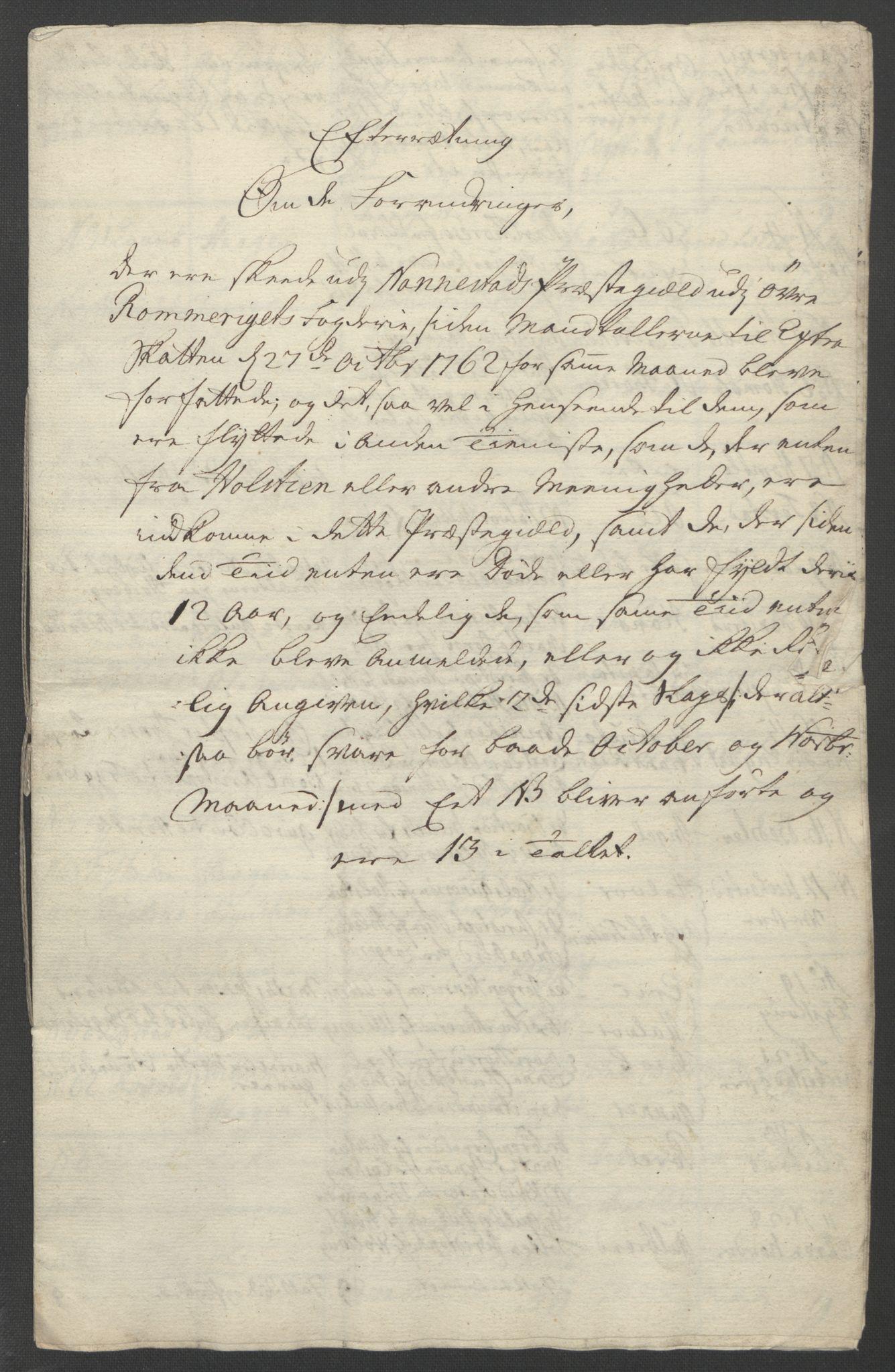 RA, Rentekammeret inntil 1814, Reviderte regnskaper, Fogderegnskap, R12/L0802: Ekstraskatten Øvre Romerike, 1762, s. 365