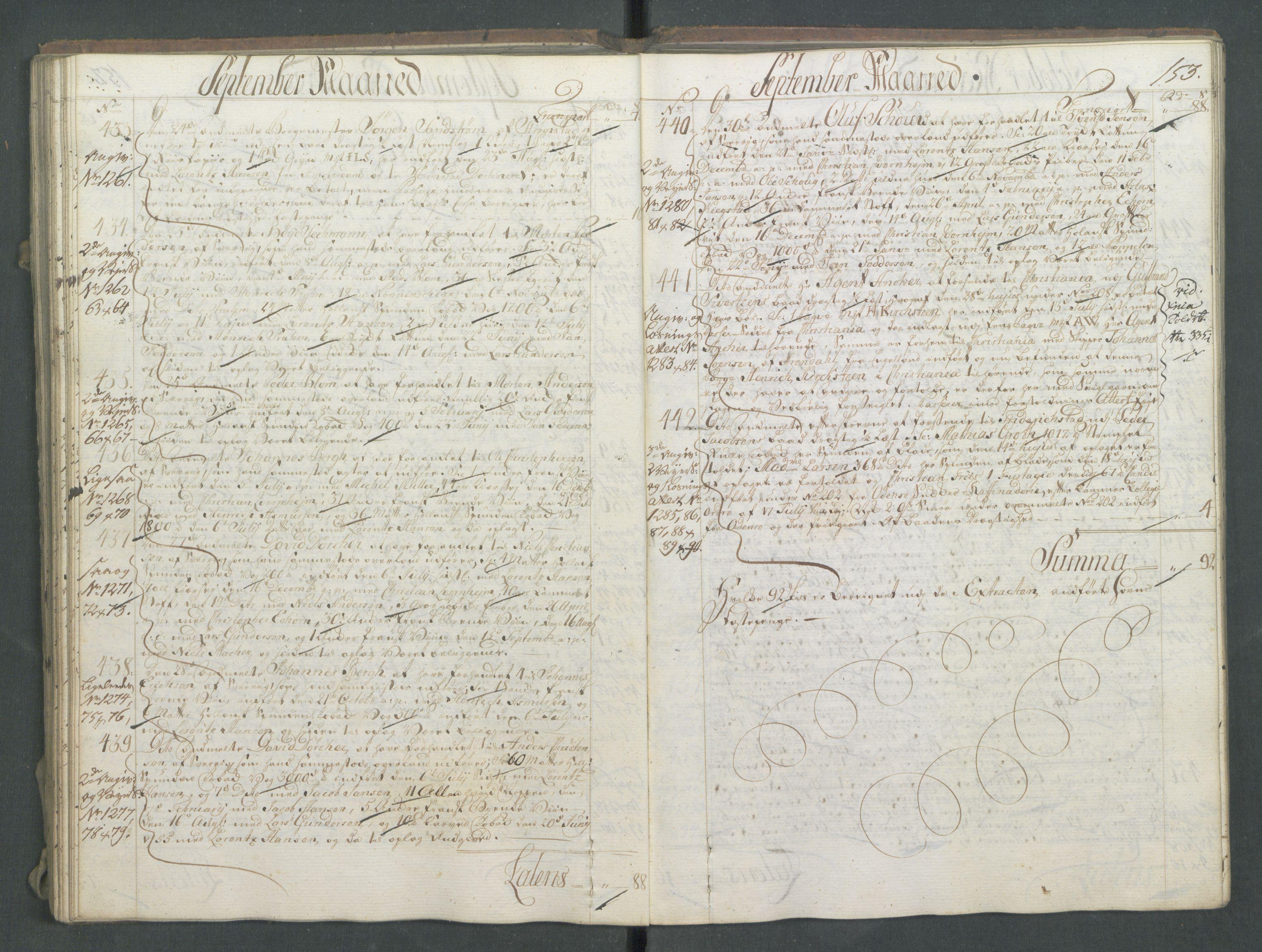RA, Generaltollkammeret, tollregnskaper, R01/L0028: Tollregnskaper Fredrikshald, 1756, s. 153