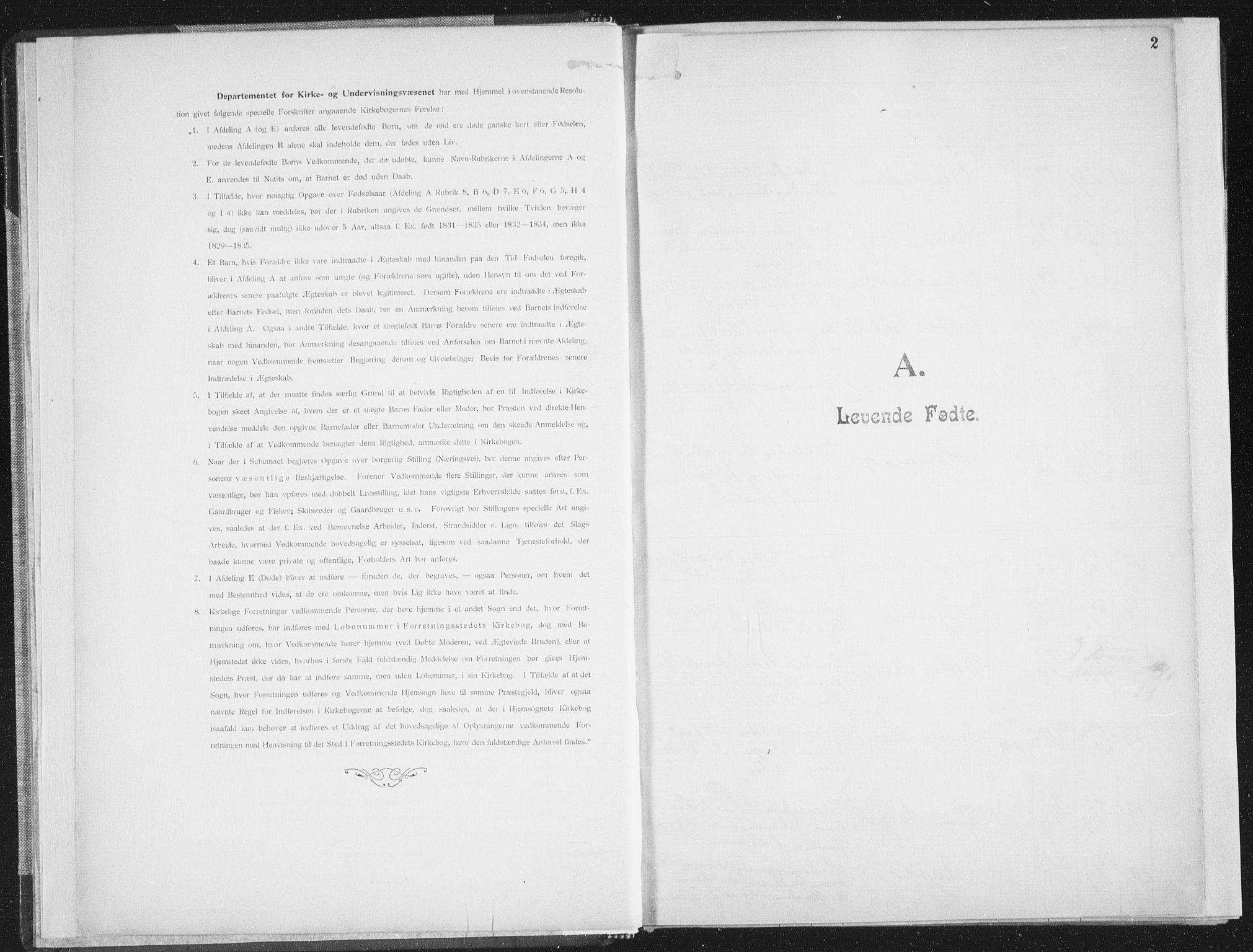 SAT, Ministerialprotokoller, klokkerbøker og fødselsregistre - Nordland, 850/L0711: Residerende kapellans bok nr. 850B01, 1902-1915, s. 2