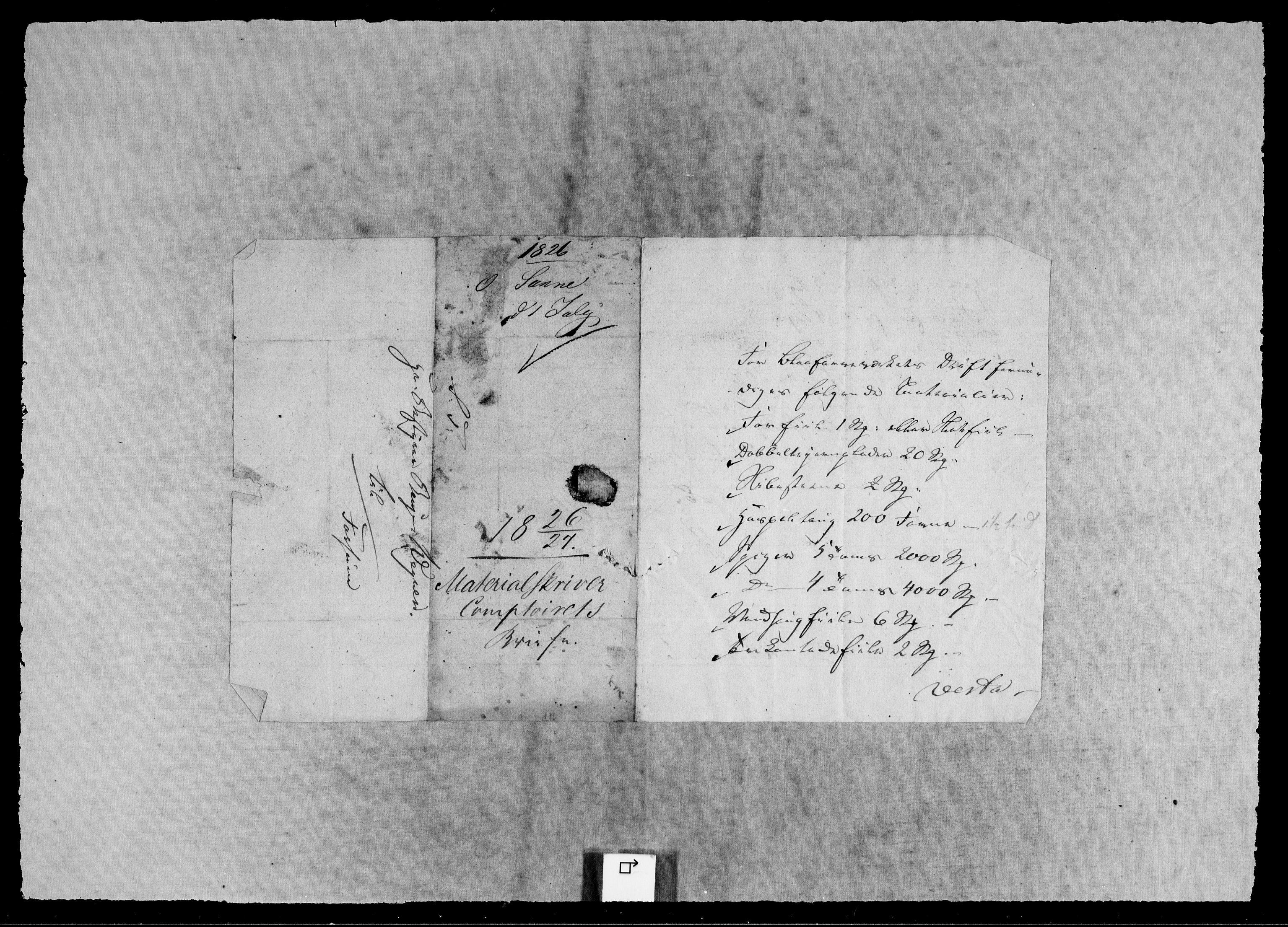 RA, Modums Blaafarveværk, G/Gb/L0137, 1826-1829, s. 2